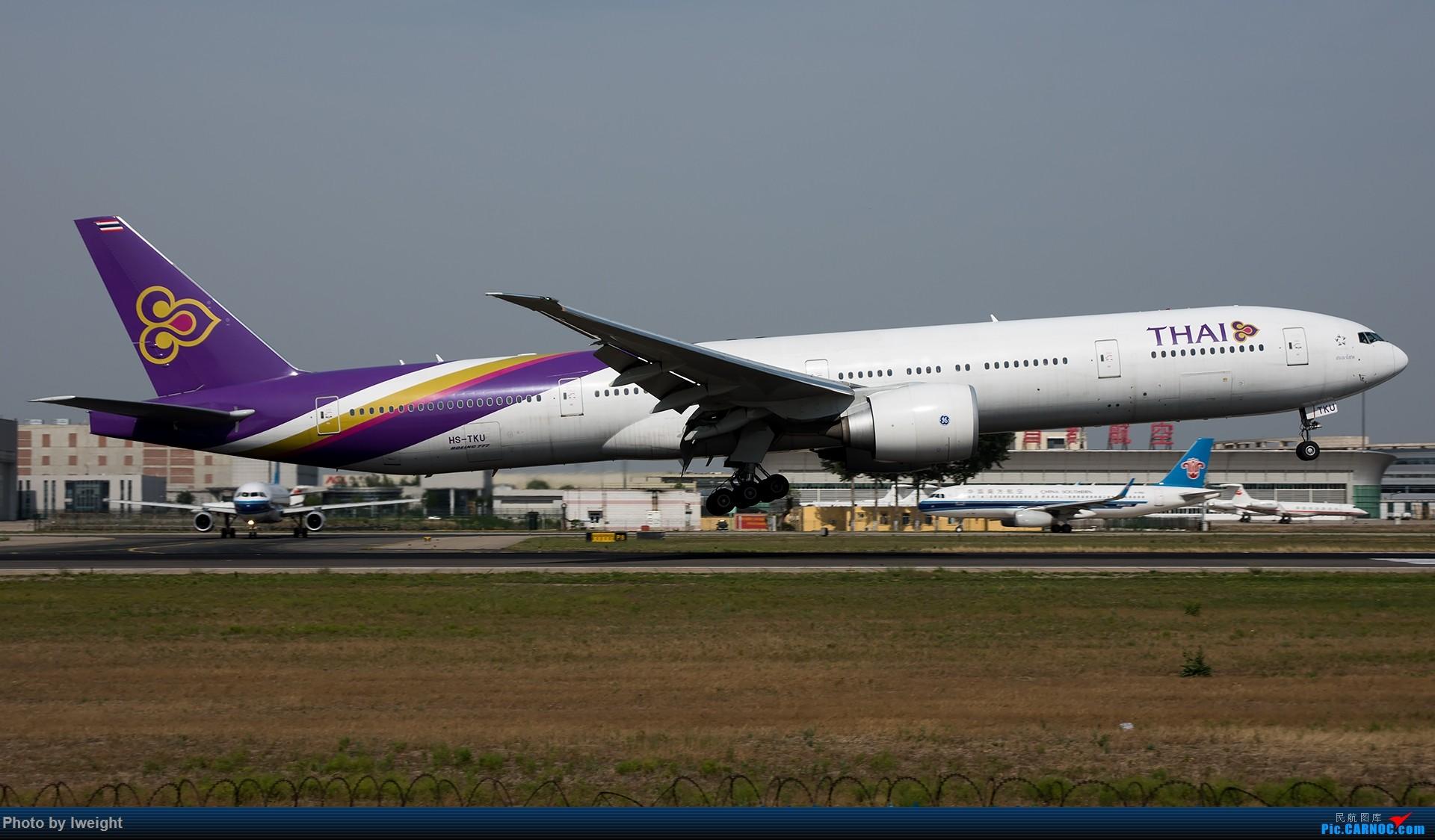 Re:很不错的天气,18R一组 BOEING 777-300ER HS-TKU 中国北京首都国际机场