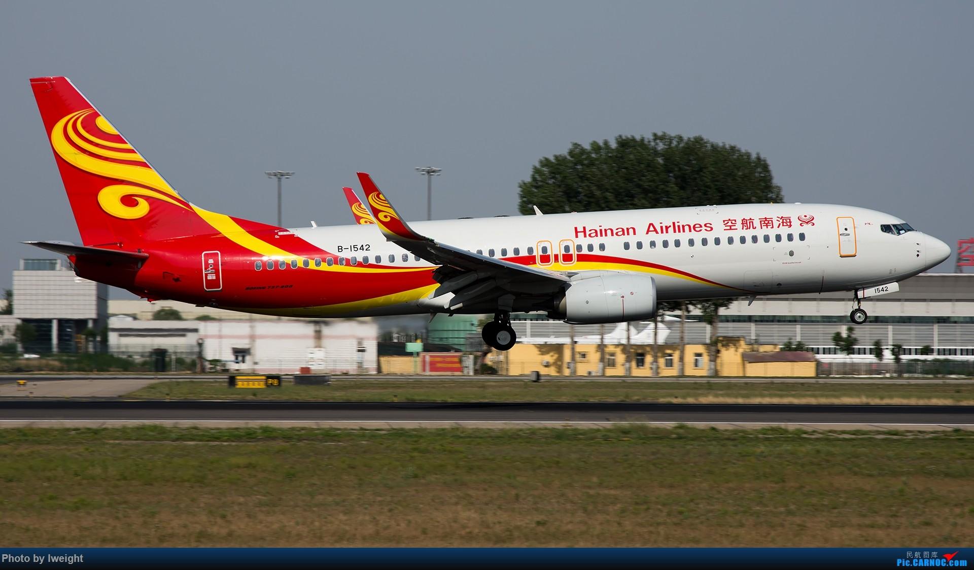 Re:[原创]很不错的天气,18R一组 BOEING 737-800 B-1542 中国北京首都国际机场