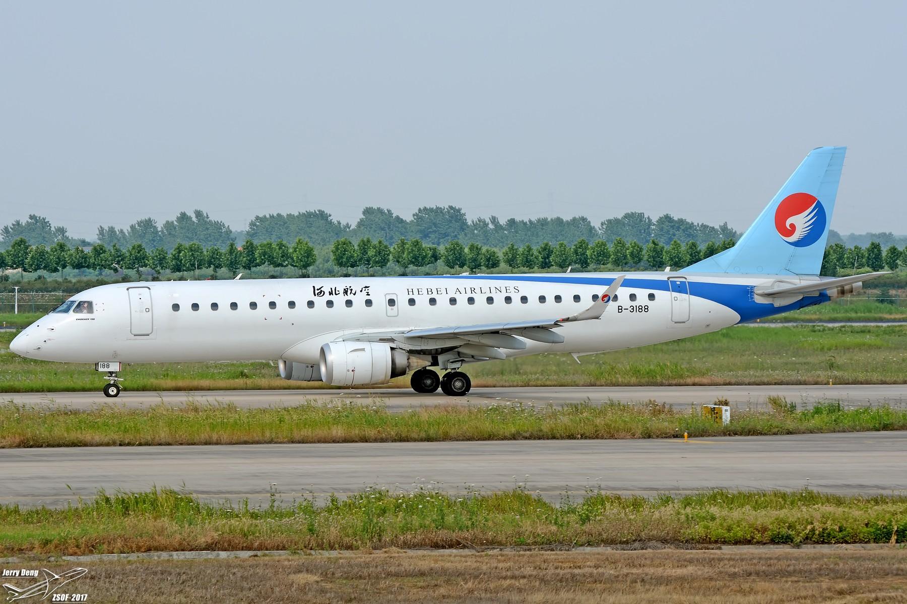 Re:[原创]【多图党】HFE常规货第一次拍到机长挥手 EMBRAER E-190 B-3188 中国合肥新桥国际机场