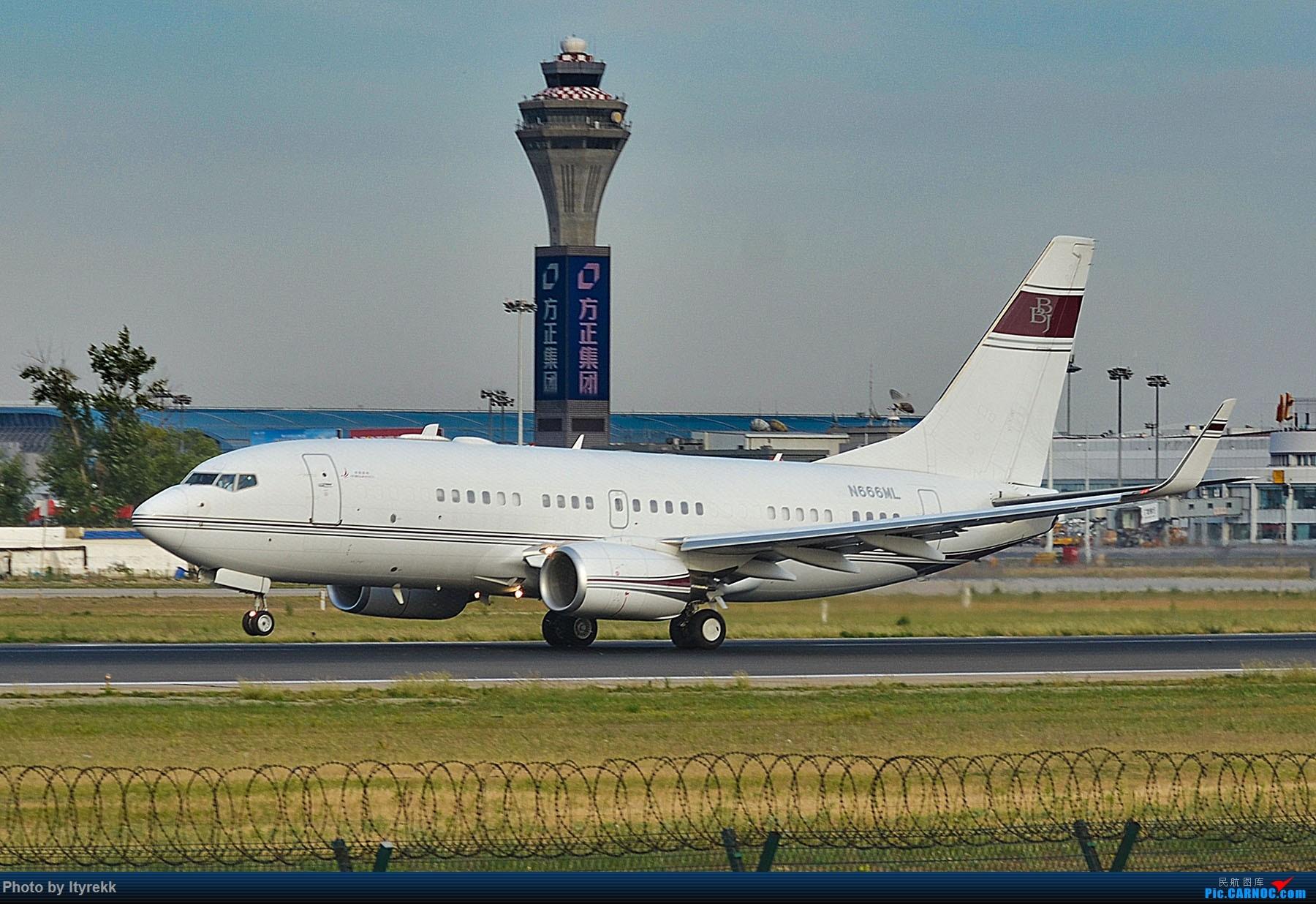 Re:[原创]很久没有发图了。PEK二十里铺的一下午 BOEING 737-700 N666ML 中国北京首都国际机场