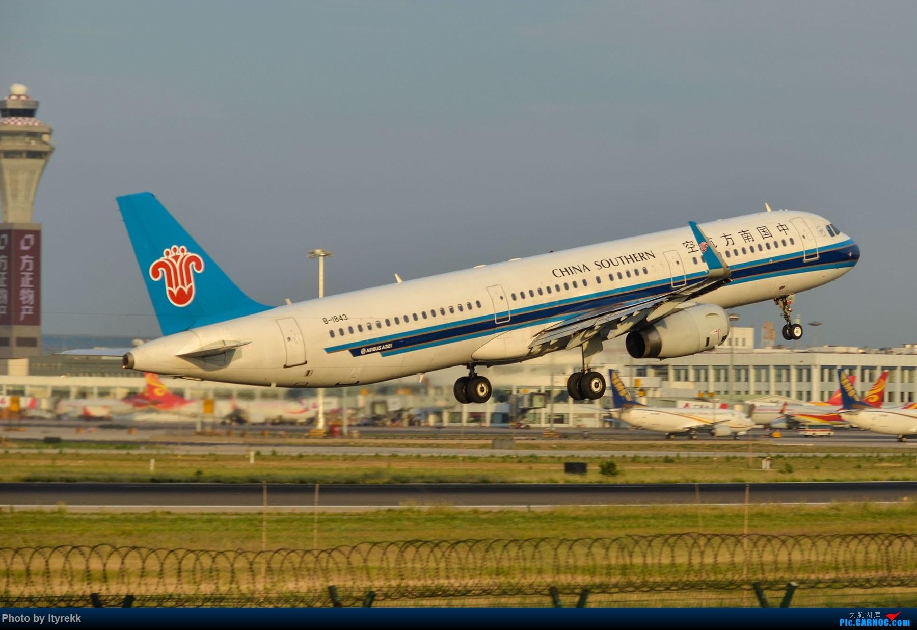 Re:[原创]很久没有发图了。PEK二十里铺的一下午 AIRBUS A321-200 B-1843 中国北京首都国际机场