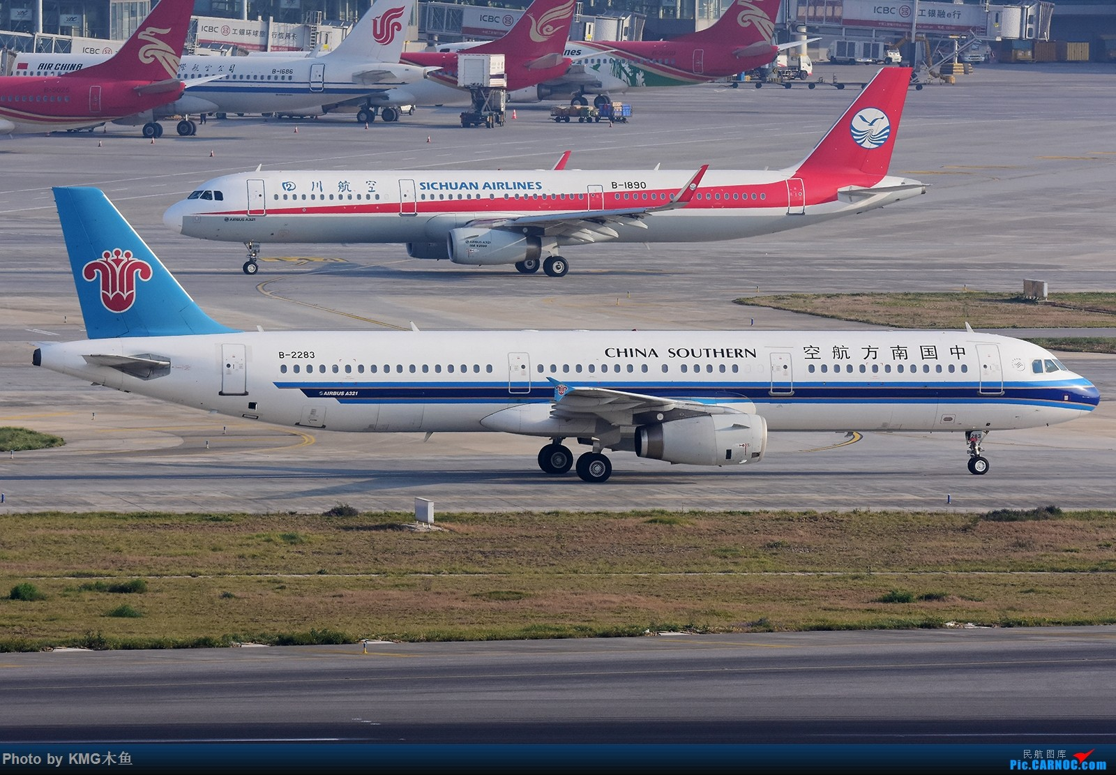Re:[原创]【昆明长水国际机场——KMG木鱼拍机】发一波库存图 AIRBUS A321-200 B-2283 中国昆明长水国际机场