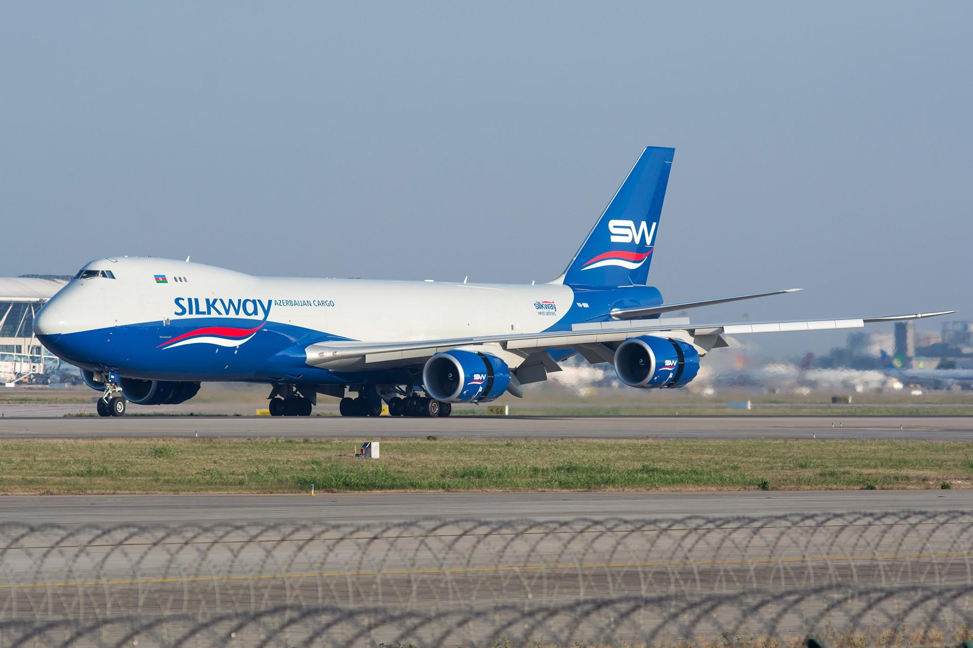 [原创][PVG] 首见丝路航空B748,早起的鸟儿有虫吃! BOEING 747-8F VQ-BBH 中国上海浦东国际机场
