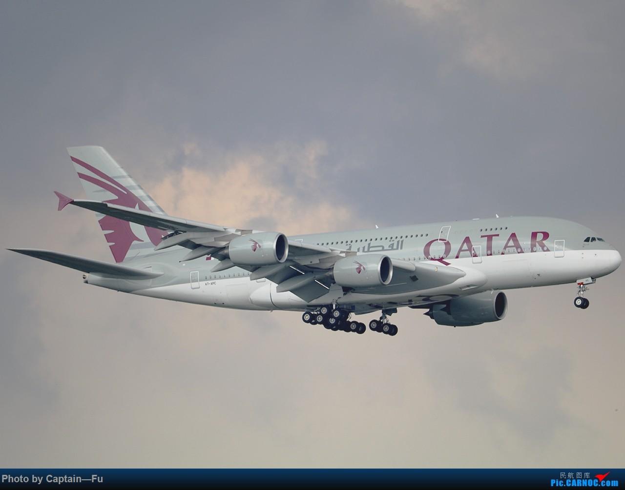 [原创]雷雨之前 AIRBUS A380-800 A7-APC 中国广州白云国际机场