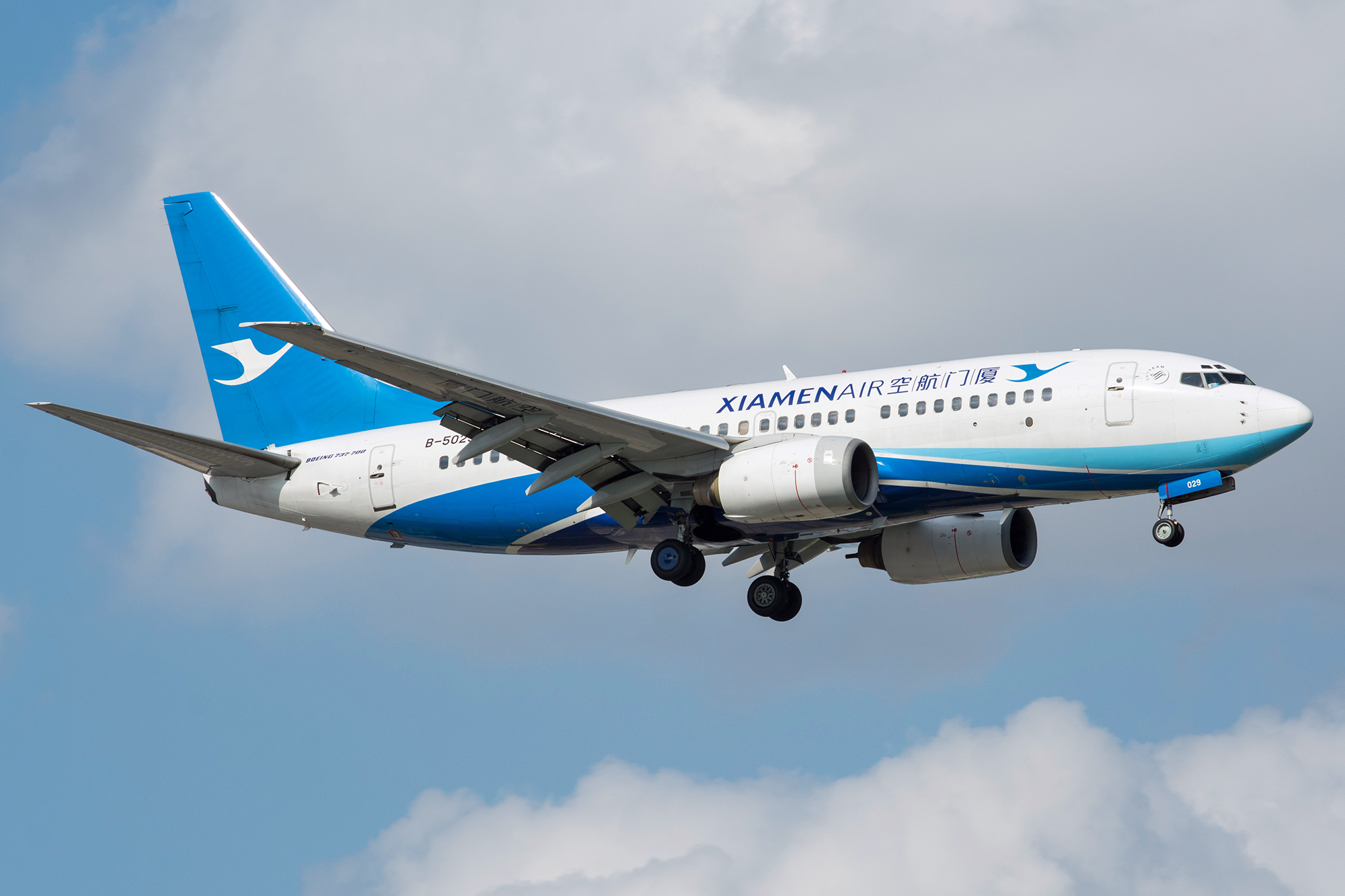 [原创][SHA]蓝天白云下737一组 BOEING 737-700 B-5029 中国上海虹桥国际机场