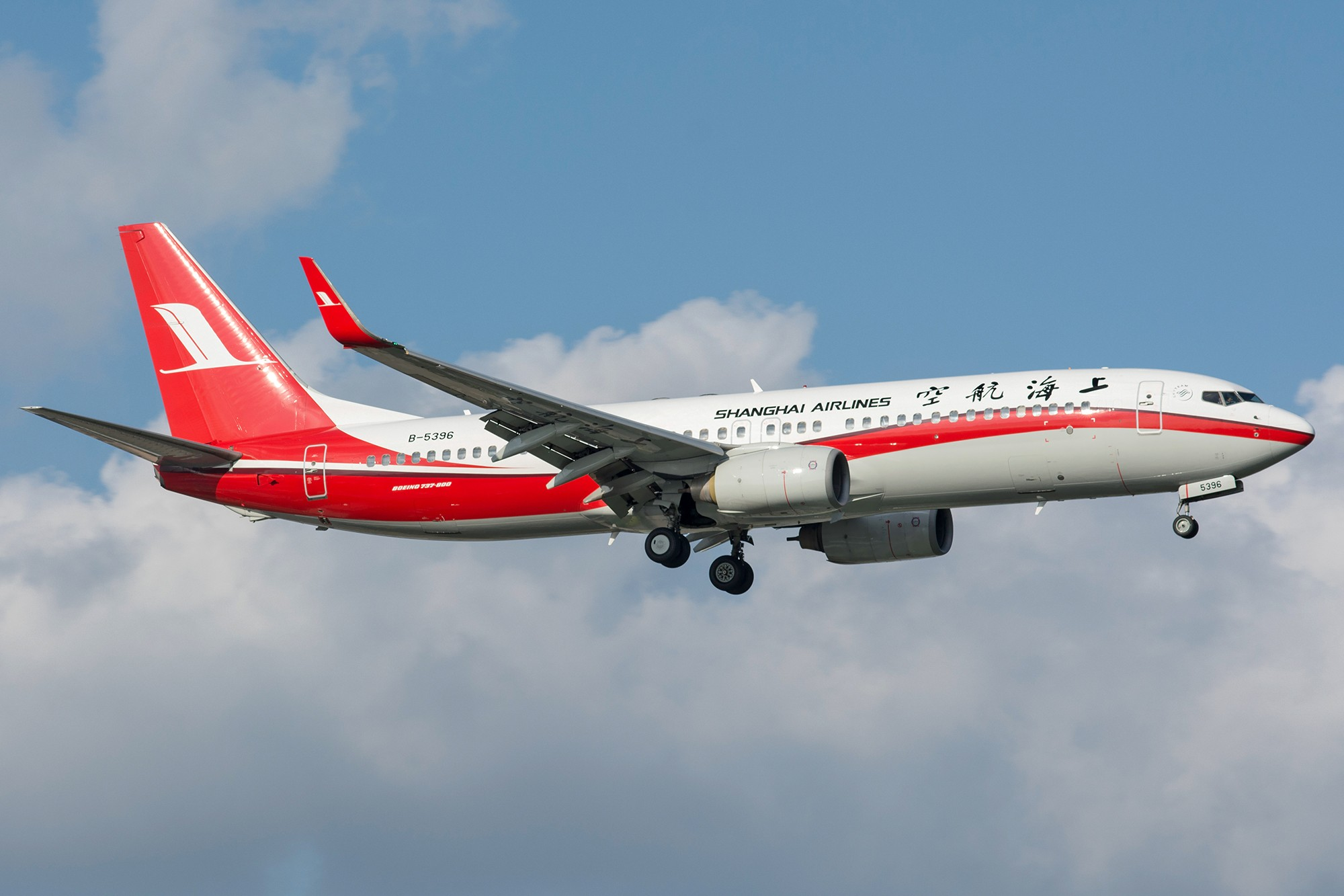Re:[原创][SHA]蓝天白云下737一组 BOEING 737-800 B-5396 中国上海虹桥国际机场