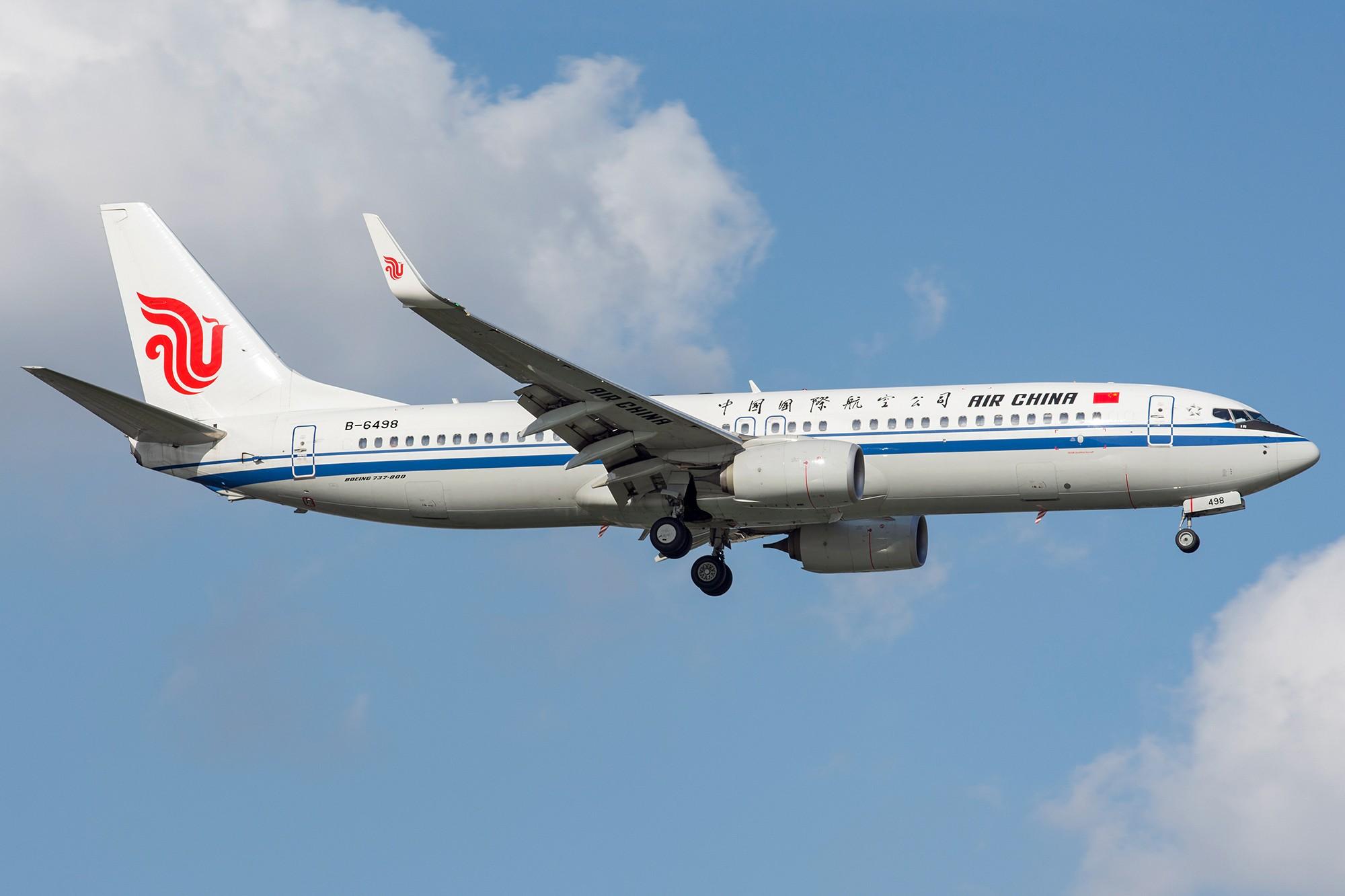 Re:[原创][SHA]蓝天白云下737一组 BOEING 737-800 B-6498 中国上海虹桥国际机场