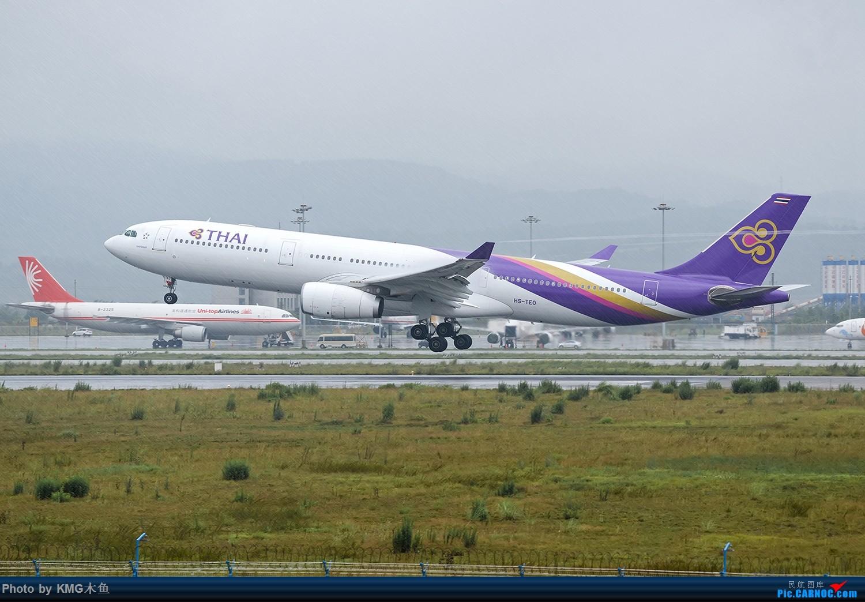 Re:[原创]【昆明长水国际机场——KMG木鱼拍机】拍机不能懒惰,昆明雨天照样拍机,货机,彩绘,宽体,公务机都有啦 AIRBUS A340-300 HS-TEO 中国昆明长水国际机场
