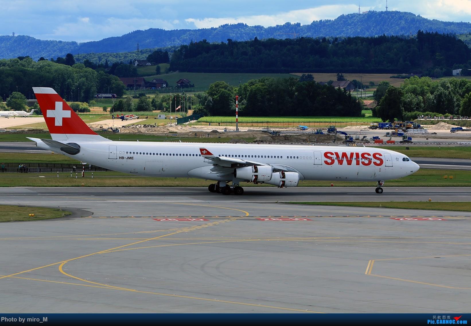 Re:[原创]欧洲浪了一圈,CS100,BAE146,fokker70等新老机型串着飞+ZRH,MUC,FRA,AMS,TLS拍机 AIRBUS A340-300 HB-JME ZRH