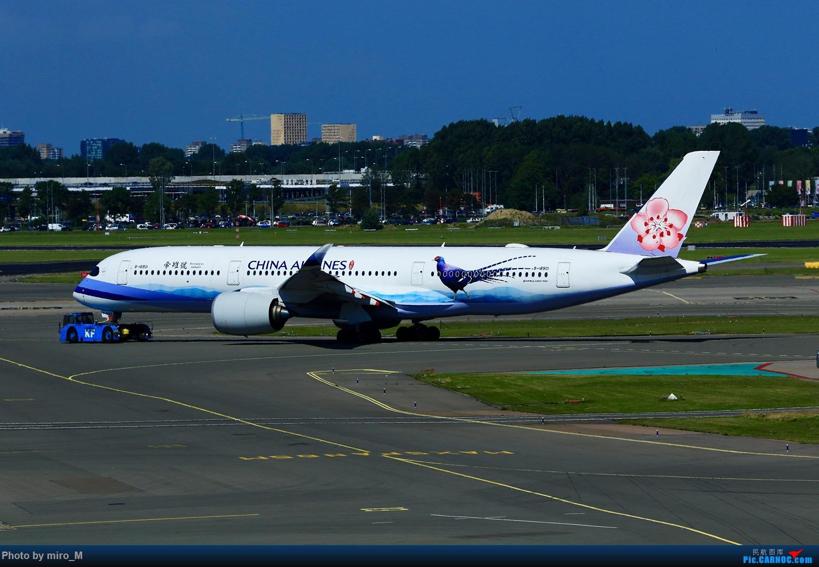 Re:[原创]欧洲浪了一圈,CS100,BAE146,fokker70等新老机型串着飞+ZRH,MUC,FRA,AMS,TLS拍机 AIRBUS A350-900 B-18901 AMS