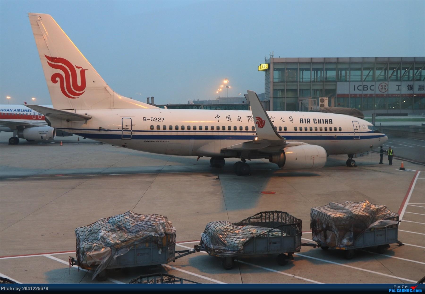 Re:[原创]【和小周飞拍世界第4集】空铁联运回家乡,长白延边好风光(家庭出游+探亲吉林6日游)*****更新至延吉部分,有FLIGHT LOG***** BOEING 737-700 B-5227 中国北京首都国际机场