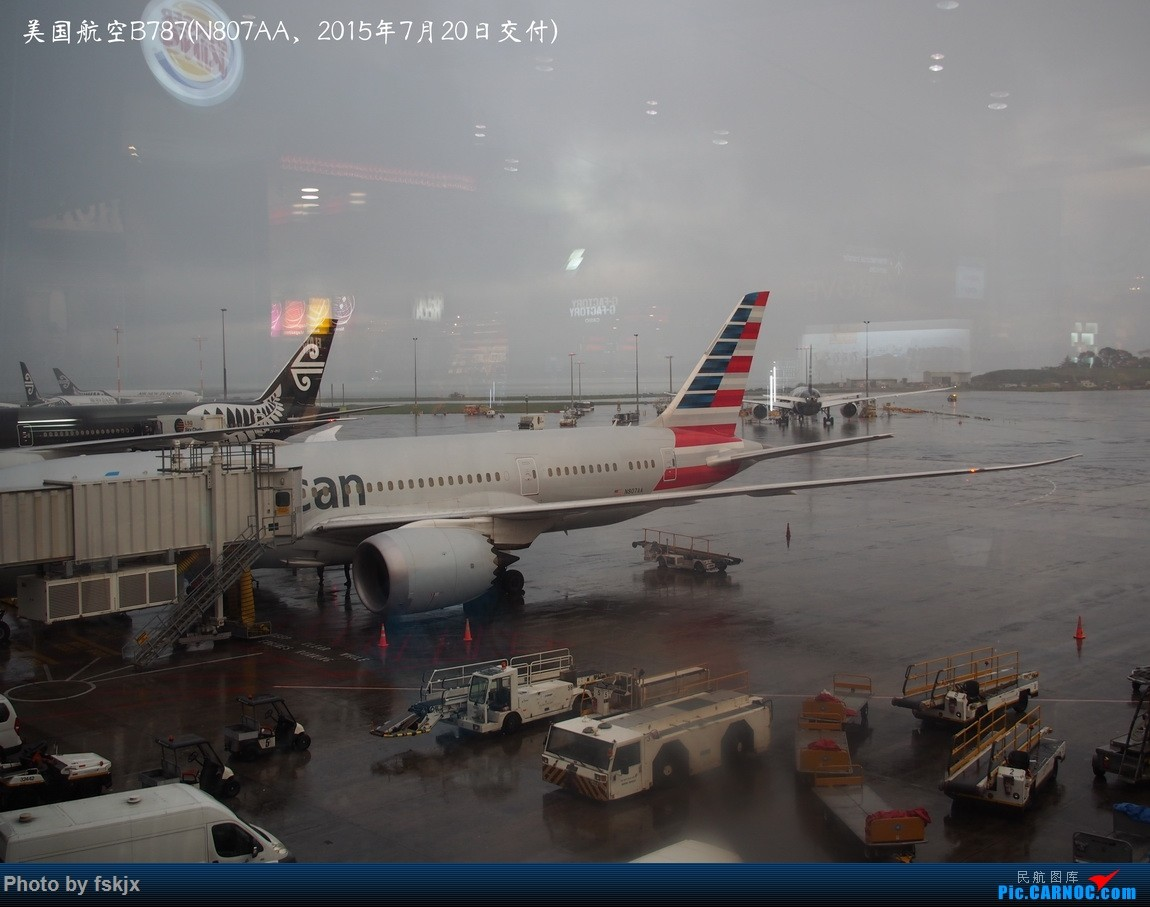 【fskjx的飞行游记☆52】地球上的一滴眼泪·大美青海 BOEING 787 N807AA 新西兰奥克兰机场
