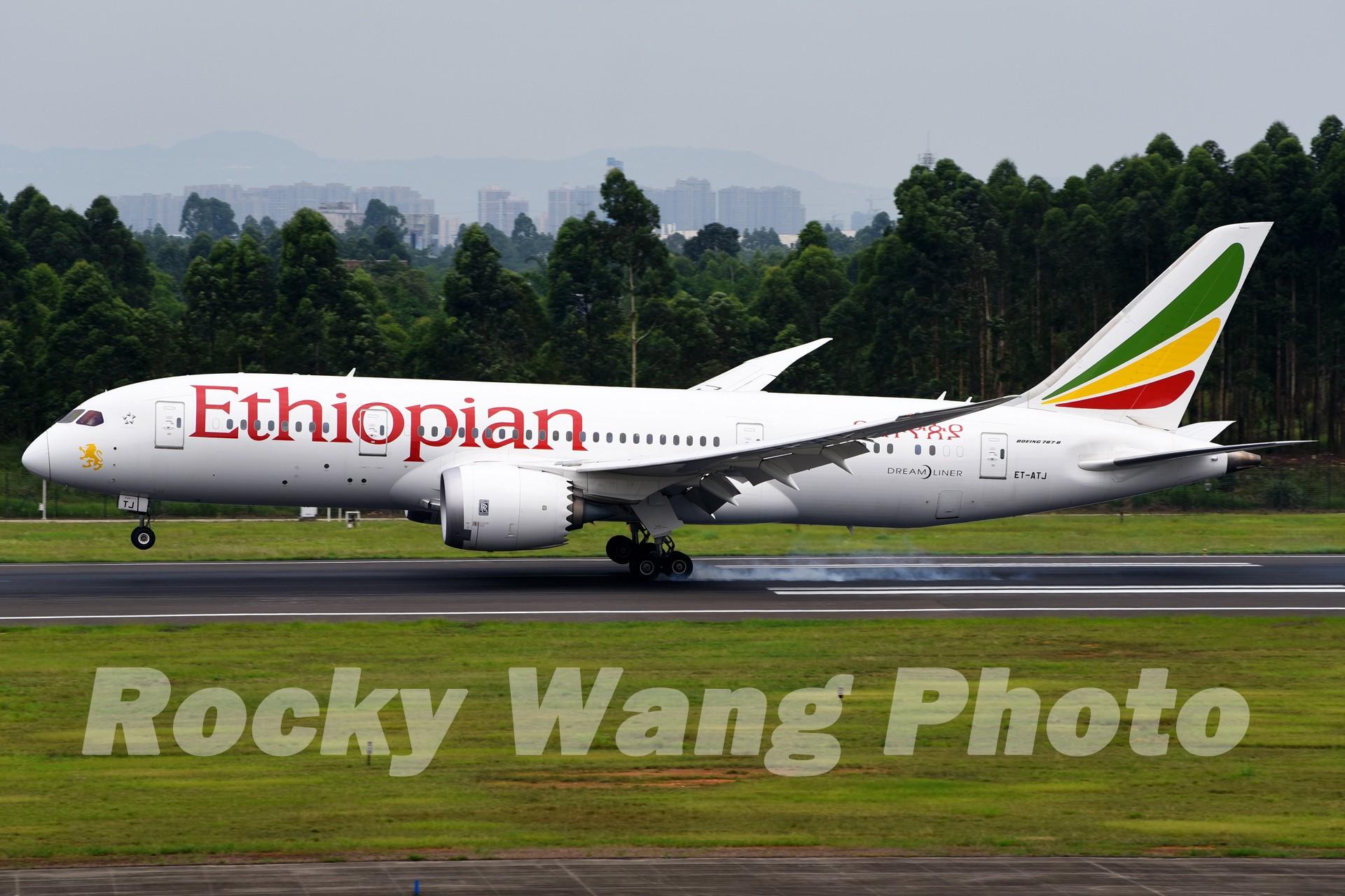 Re:[原创]即将离开787级,刷一组787 BOEING 787-8 ET-ATJ 中国成都双流国际机场