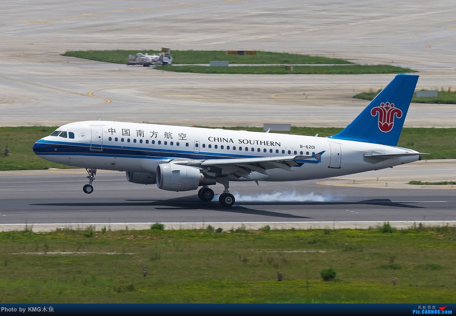 Re:[原创]【昆明长水国际机场——KMG木鱼拍机】第一次大中午的拍飞机,还好宽体比较多,也算是值得了 AIRBUS A319-100 B-6201 中国昆明长水国际机场