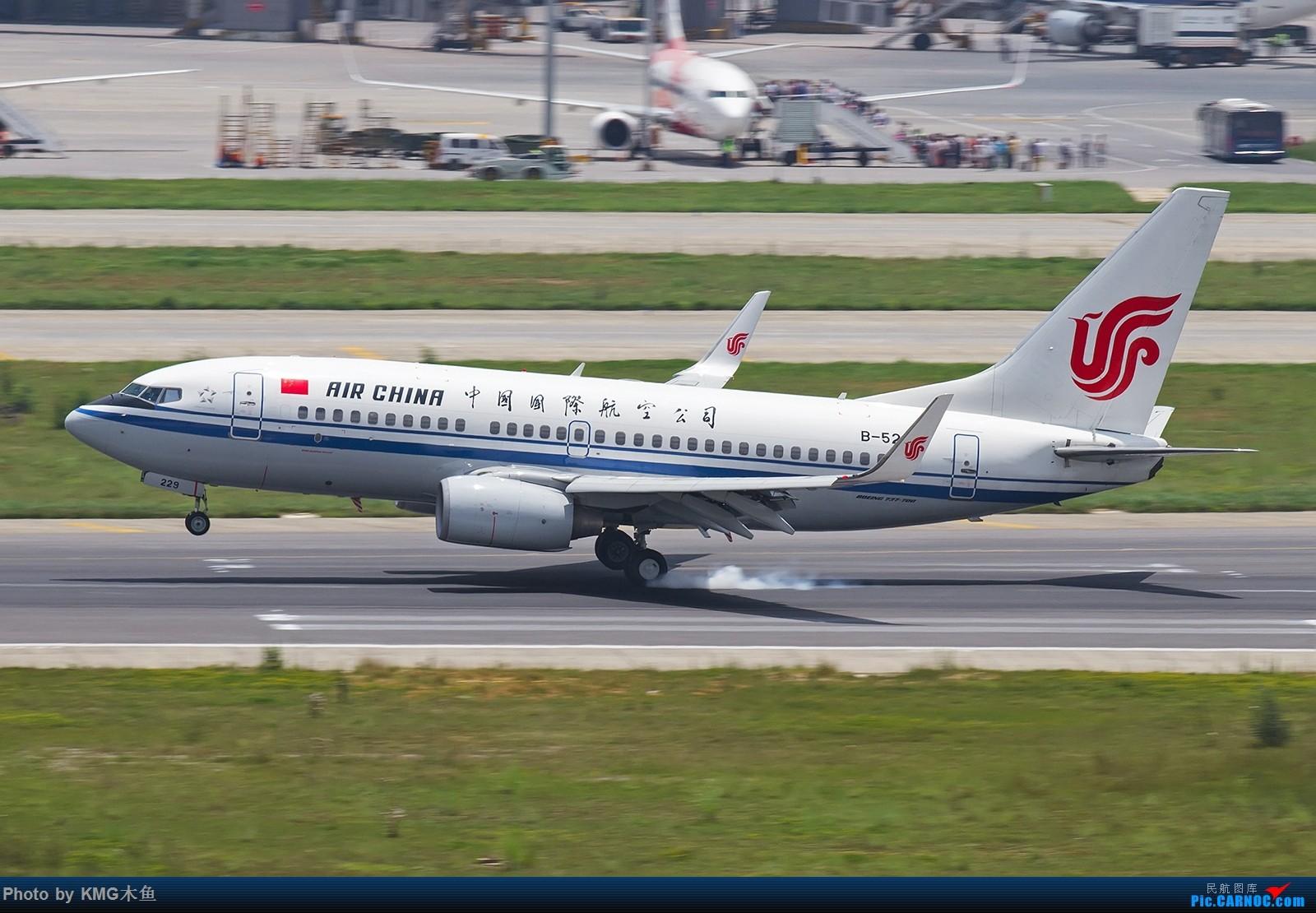 Re:[原创]【昆明长水国际机场——KMG木鱼拍机】第一次大中午的拍飞机,还好宽体比较多,也算是值得了 BOEING 737-700 B-5229 中国昆明长水国际机场