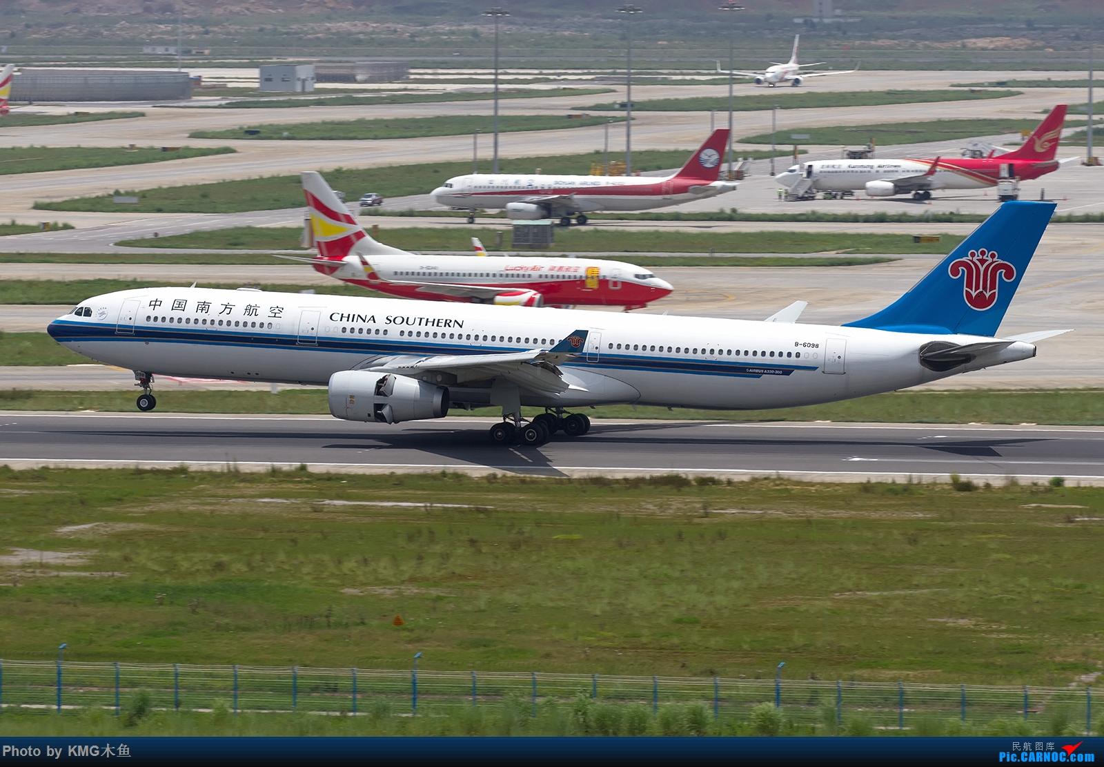 Re:[原创]【昆明长水国际机场——KMG木鱼拍机】第一次大中午的拍飞机,还好宽体比较多,也算是值得了 AIRBUS A330-300 B-6098 中国昆明长水国际机场