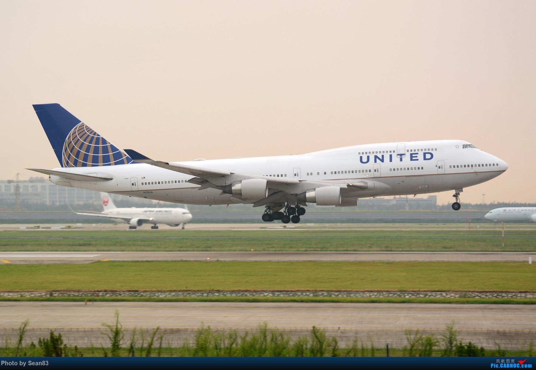 [原创](PVG 1800*)夕阳下的747 BOEING 747-400 N119UA 上海浦东国际机场