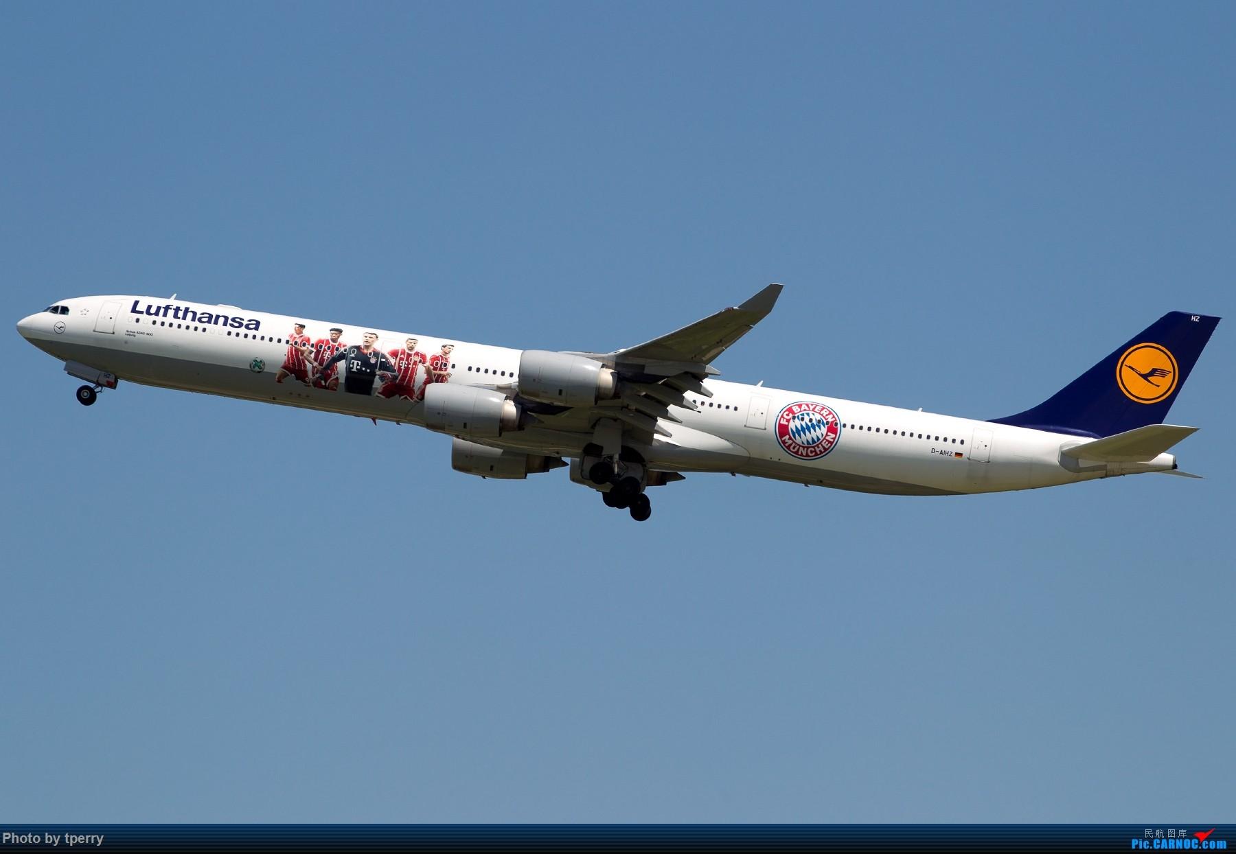 Re:【1800大图】蓝天来好货的机会可真不多 关键词:汉莎拜仁 米老鼠 达美天合 AIRBUS A340-600 D-AIHZ 中国北京首都国际机场
