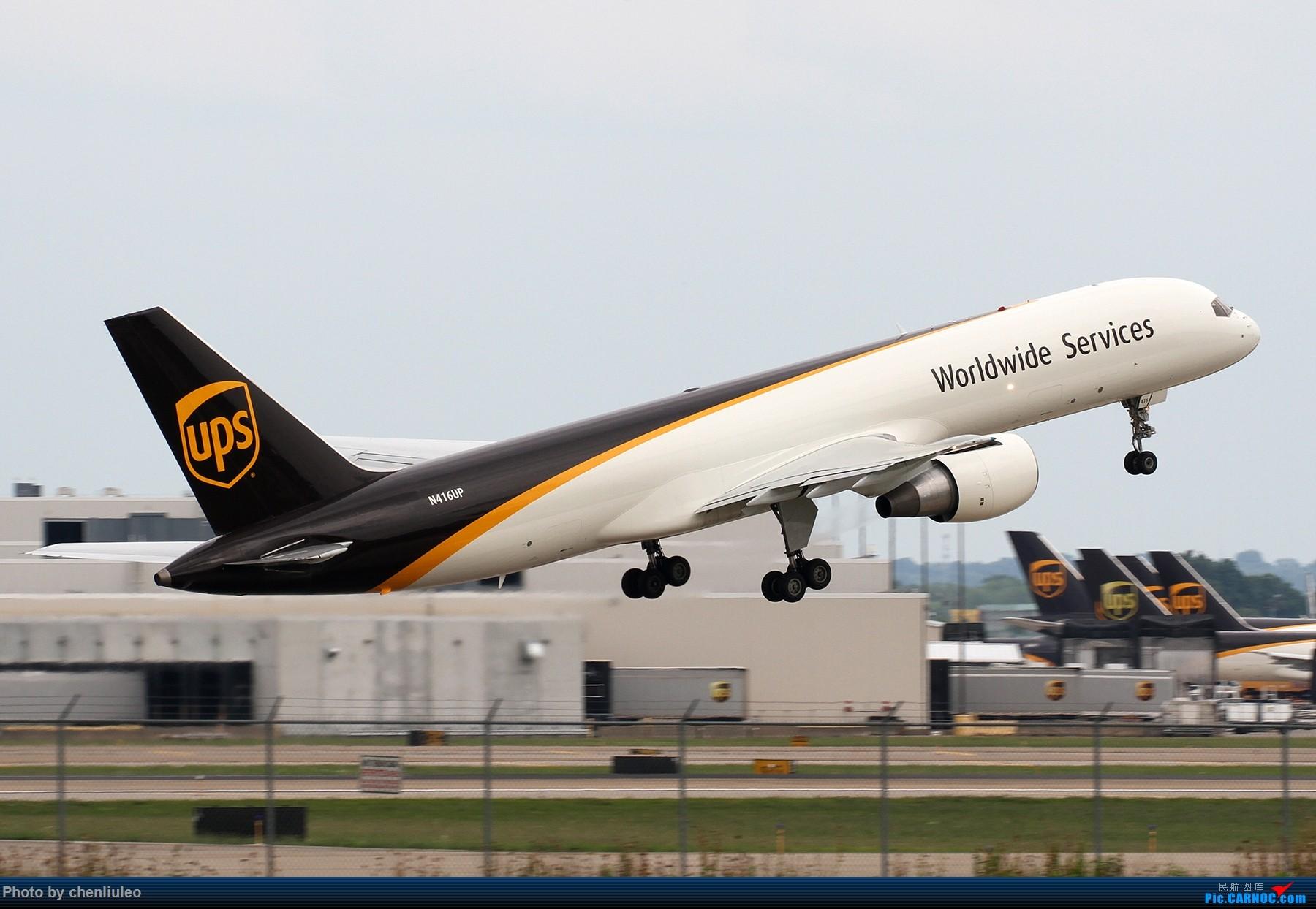 Re:【北美飞友会】肯塔基州路易斯维尔 UPS的大本营 深棕色尾巴让你一次看个够 BOEING 757-200F N416UP 美国辛辛那提-北肯塔基国际机场