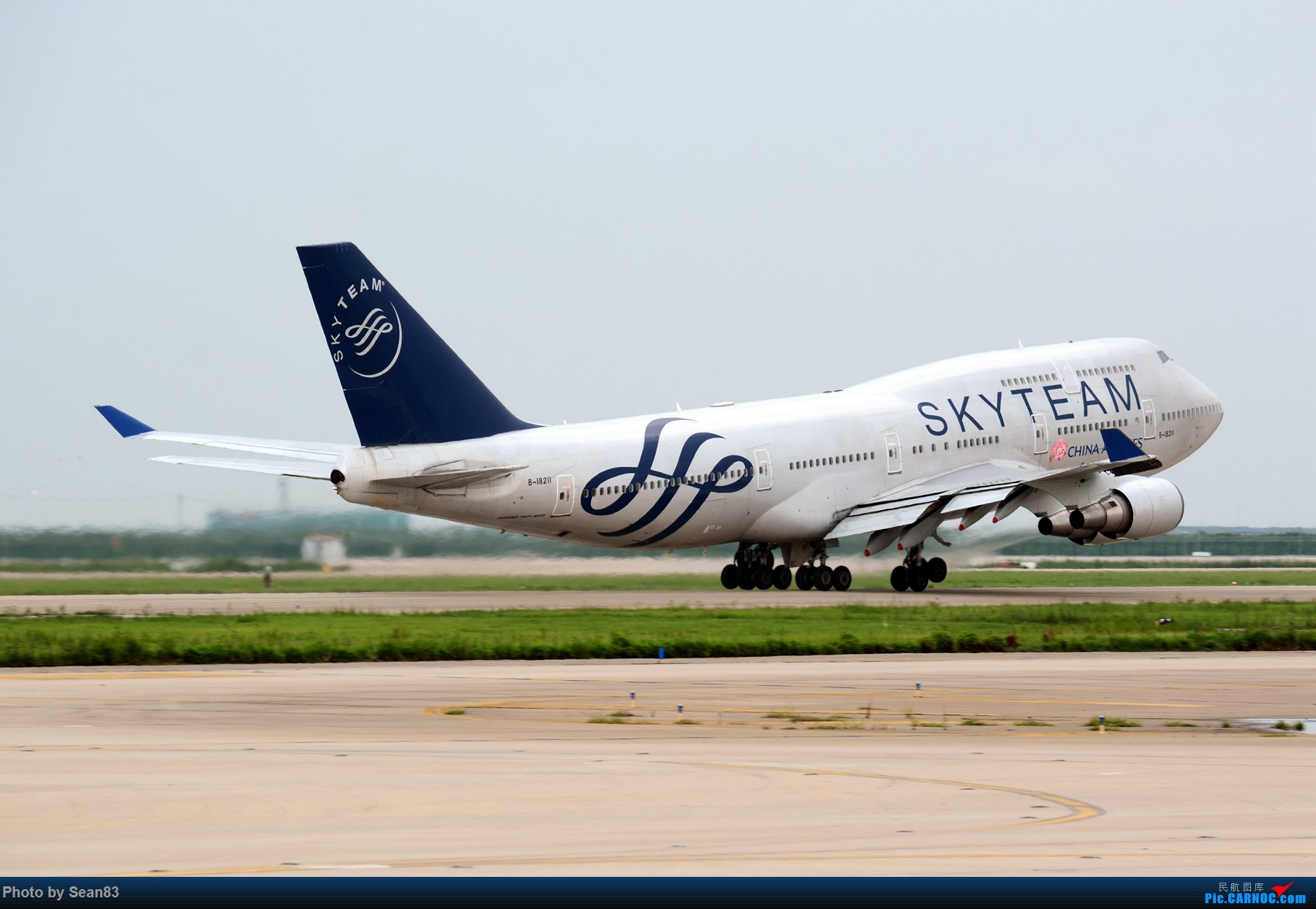 Re:[原创](PVG 1800*) 华航744 大邮戳 BOEING 747-400 B-18211 上海浦东国际机场