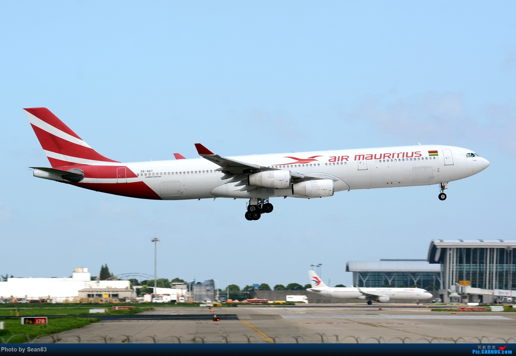 (PVG 1800*)毛里求斯A340-300 AIRBUS A340-300 3B-NAY 上海浦东国际机场
