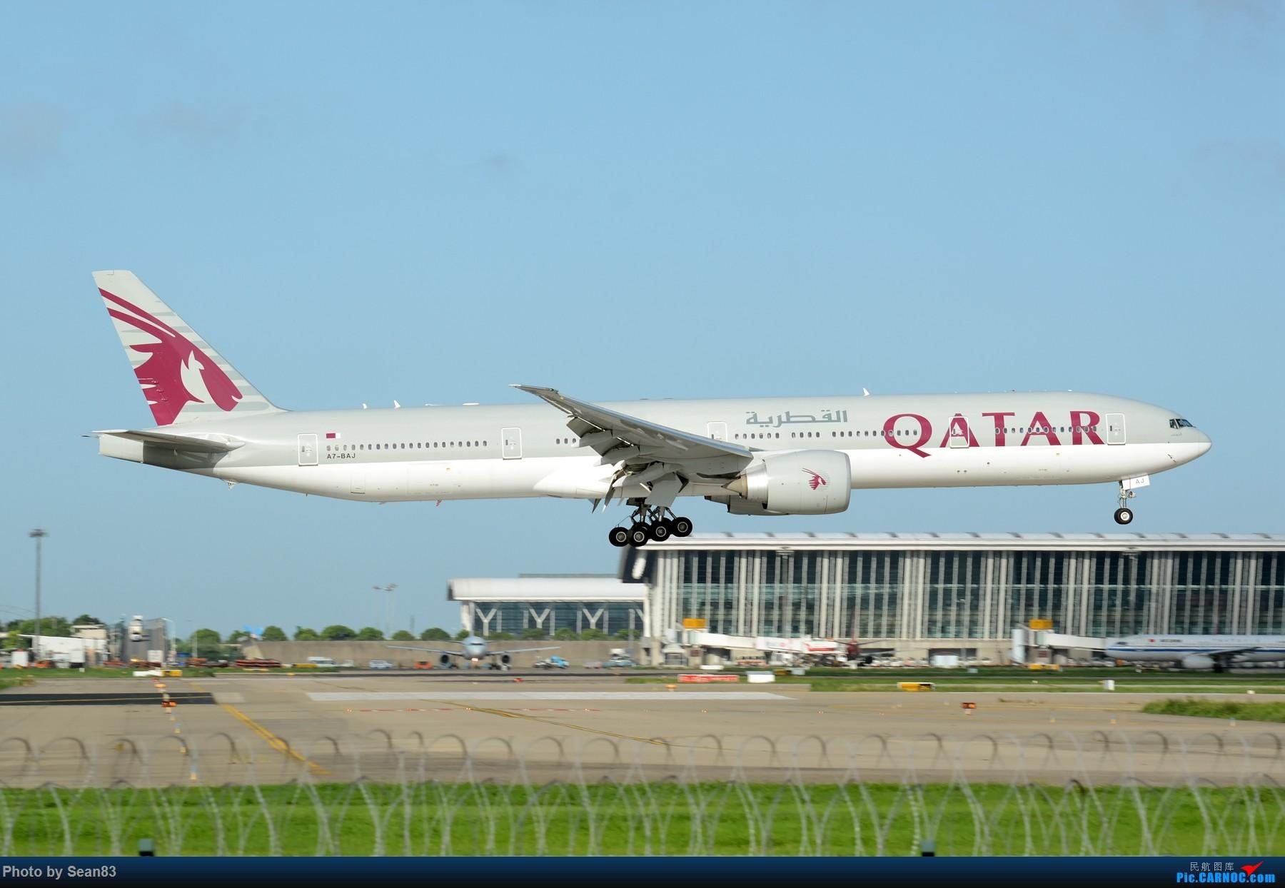 Re:[原创](PVG 1800*)七夕发个777 BOEING 777-300ER A7-BAJ 上海浦东国际机场