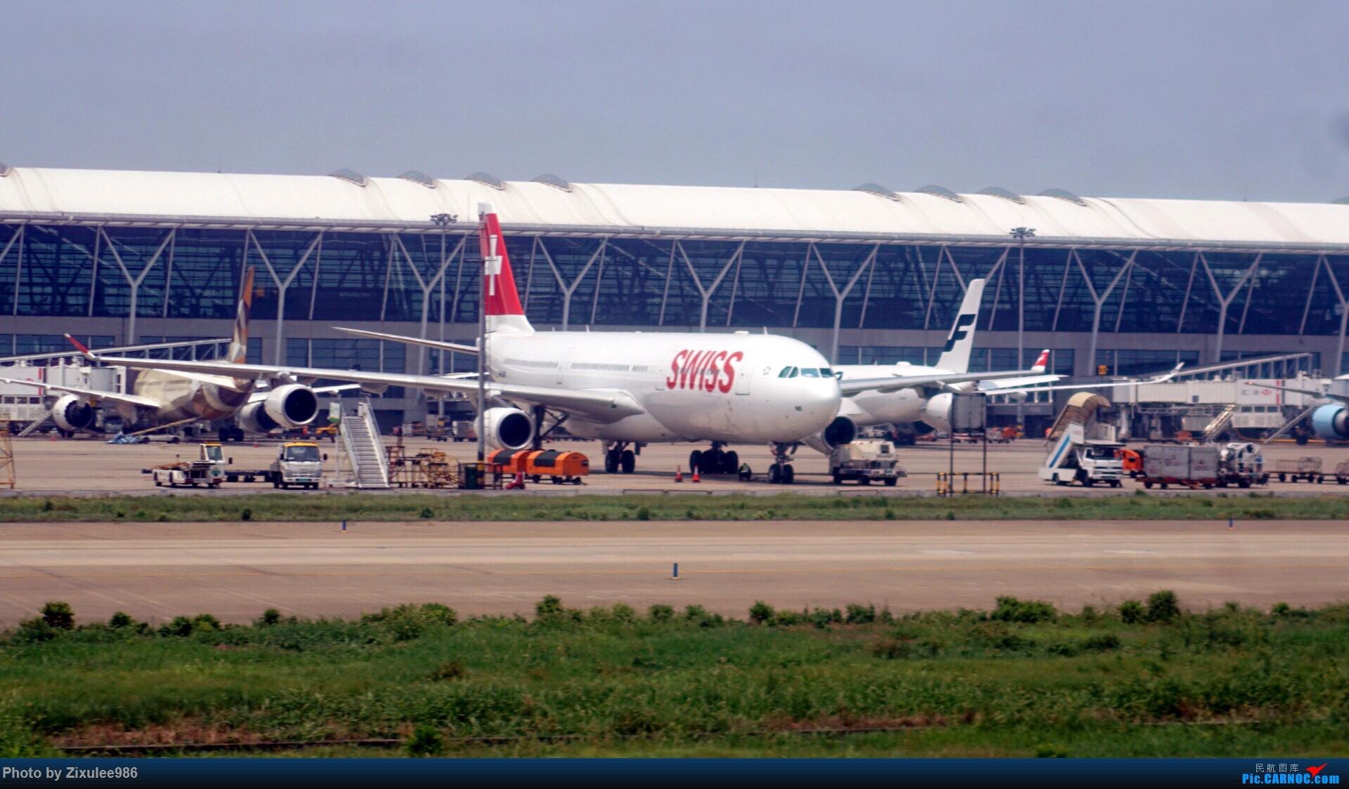 Re:[原创]加拿大21日游学之旅(一)~JJN-PVG-YYZ..(内含flightlog)~第一次发游记~多图缓更请谅解 AIRBUS A340-313X HB-JMF 中国上海浦东国际机场
