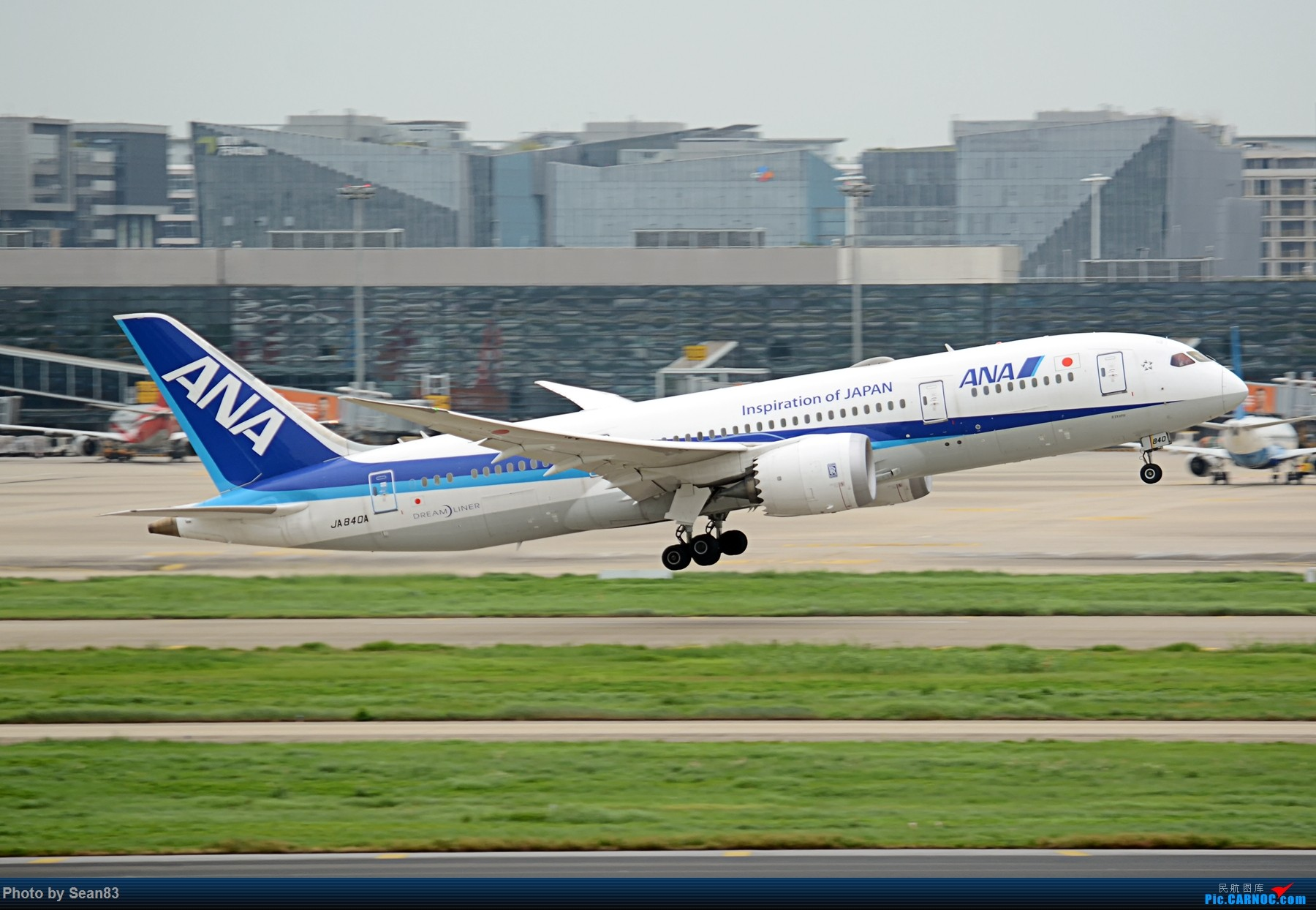 Re:[原创](SHA 1800*)日本国两张 拉起 BOEING 787-8 JA804A 上海虹桥机场