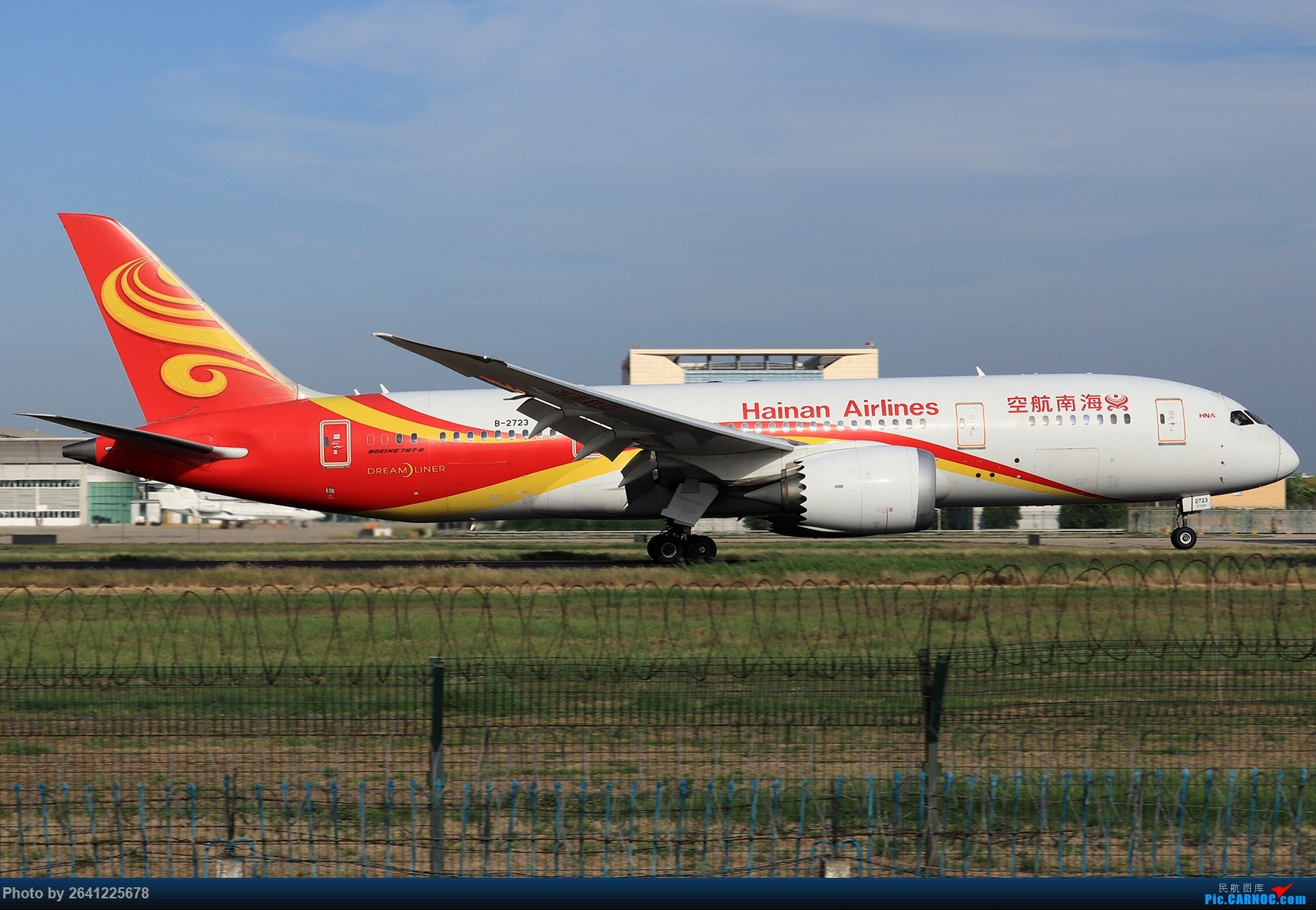[原创]【PEK】淡蓝色天空下的18R【一】( 海航系 )汇聚众多787,海航3架767及首都航319等 BOEING 787-8 B-2723 中国北京首都国际机场