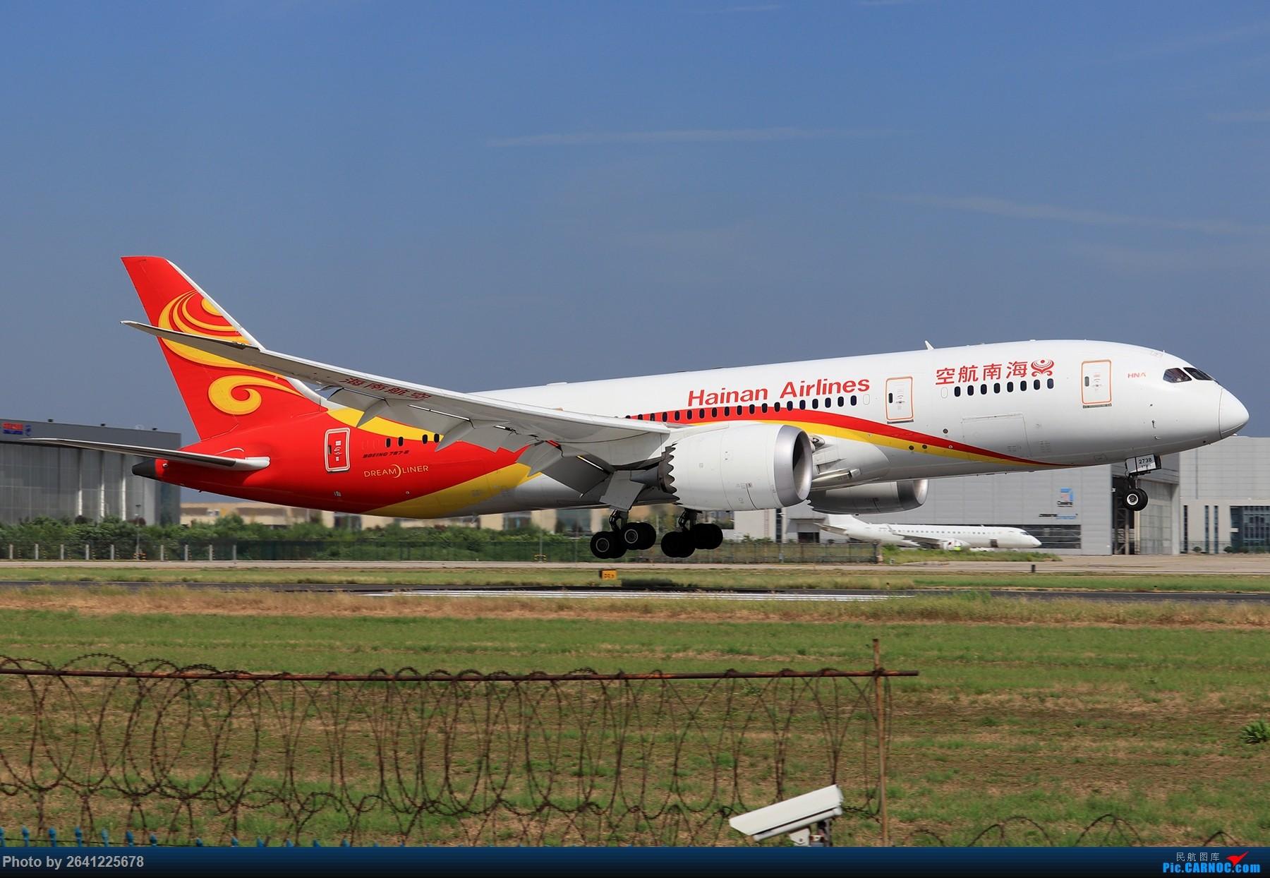 Re:[原创]【PEK】淡蓝色天空下的18R( HNA 篇 ) BOEING 787-8 B-2738 中国北京首都国际机场