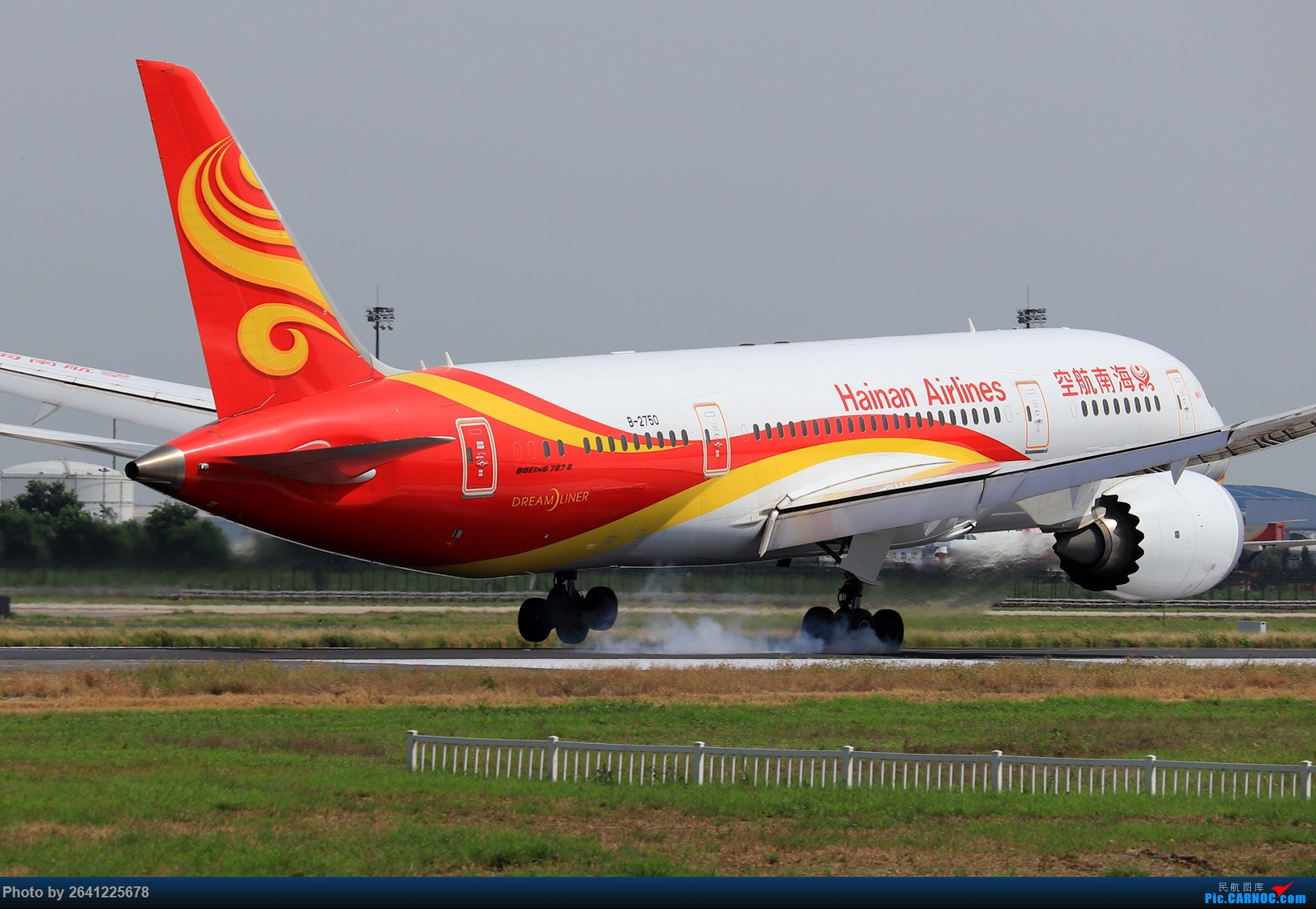 Re:[原创]【PEK】淡蓝色天空下的18R( HNA 篇 ) BOEING 787-8 B-2750 中国北京首都国际机场