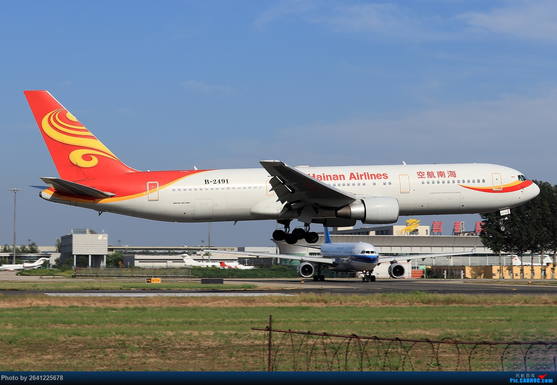 Re:[原创]【PEK】淡蓝色天空下的18R( HNA 篇 ) BOEING 767-300ER B-2491 中国北京首都国际机场