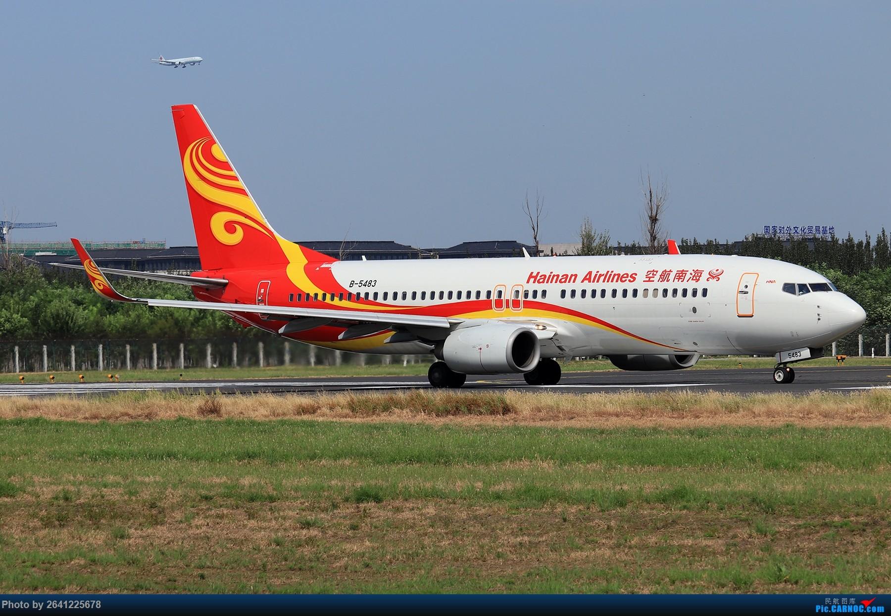 Re:[原创]【PEK】淡蓝色天空下的18R( HNA 篇 ) BOEING 737-800 B-5483 中国北京首都国际机场