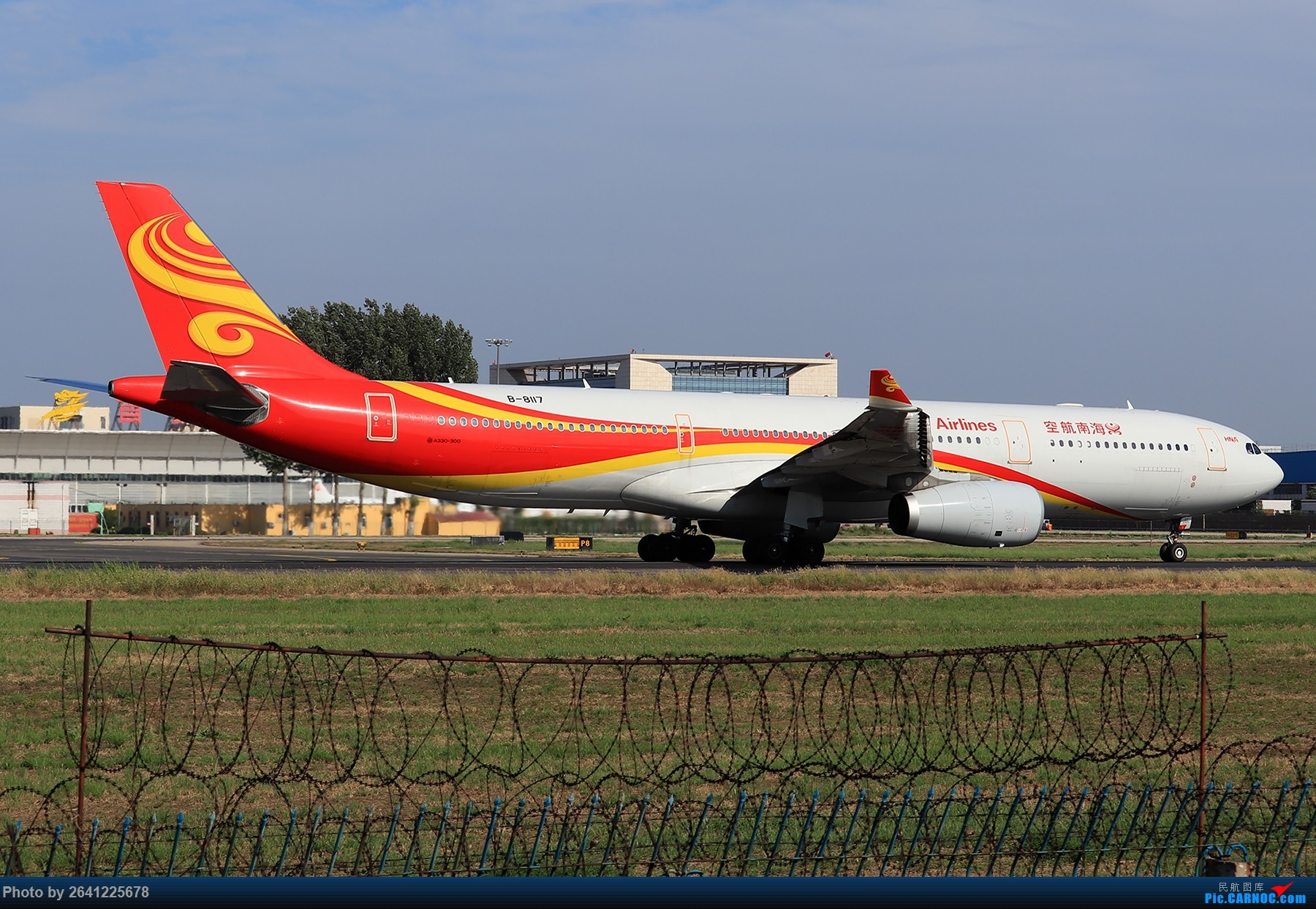 Re:[原创]【PEK】淡蓝色天空下的18R( HNA 篇 ) AIRBUS A330-300 B-8117 中国北京首都国际机场