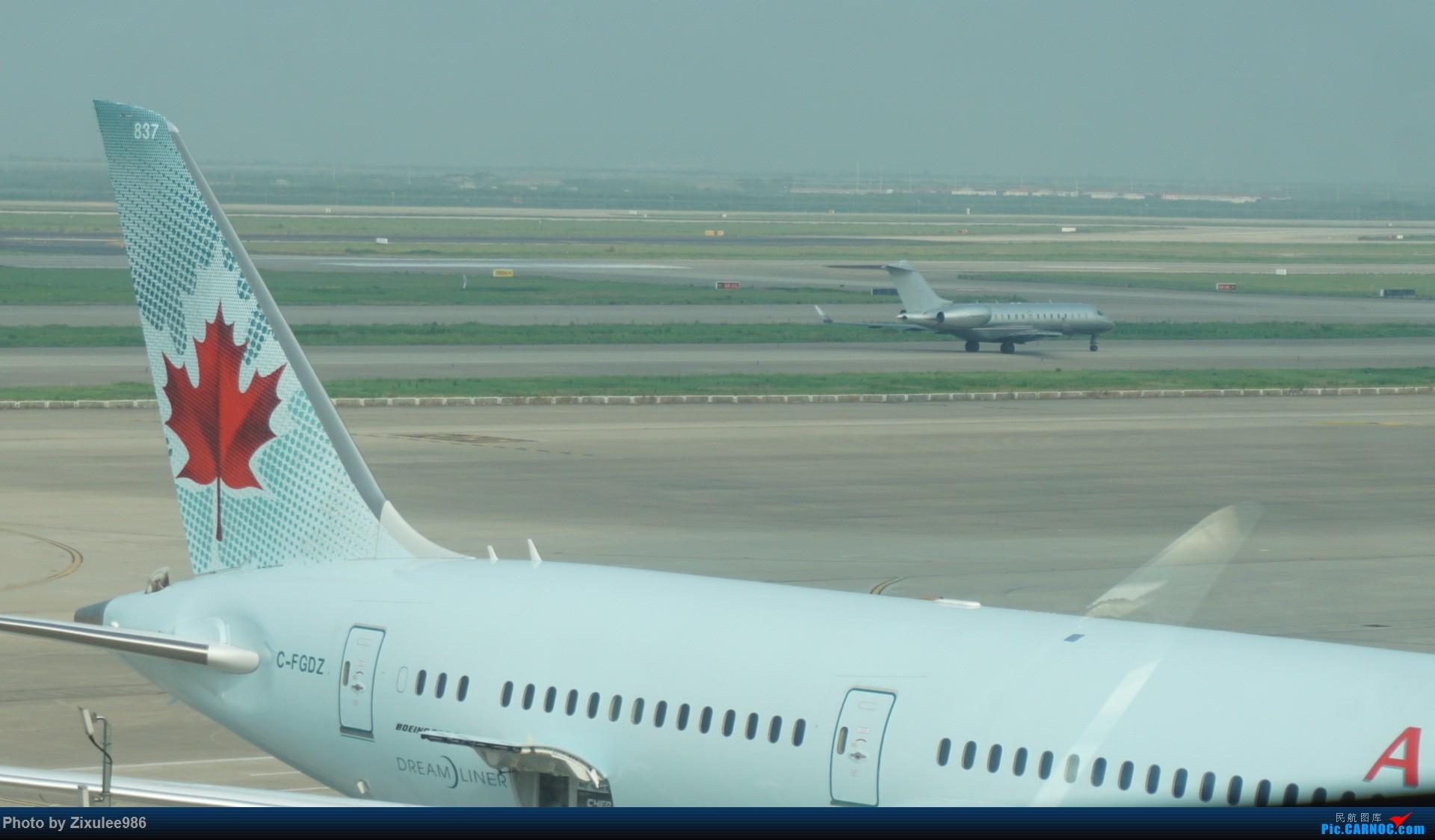 Re:[原创]加拿大21日游学之旅(一)~JJN-PVG-YYZ..(内含flightlog)~第一次发游记~多图缓更请谅解 BOMBARDIER GLOBAL 6000  中国上海浦东国际机场