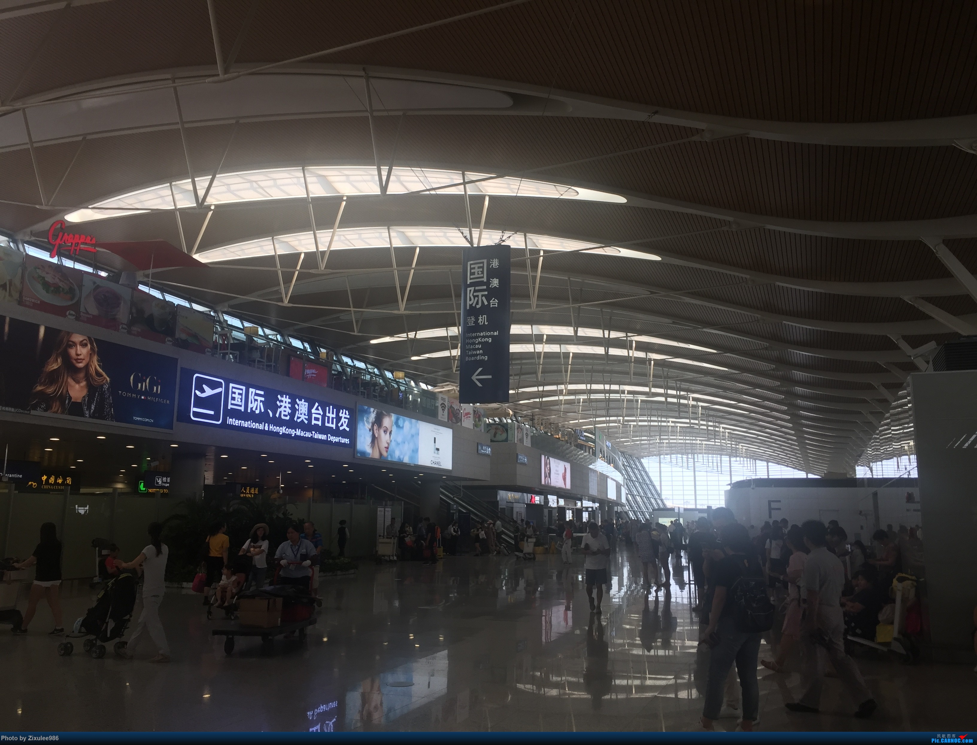 Re:[原创]加拿大21日游学之旅(一)~JJN-PVG-YYZ..(内含flightlog)~第一次发游记~多图缓更请谅解    中国上海浦东国际机场