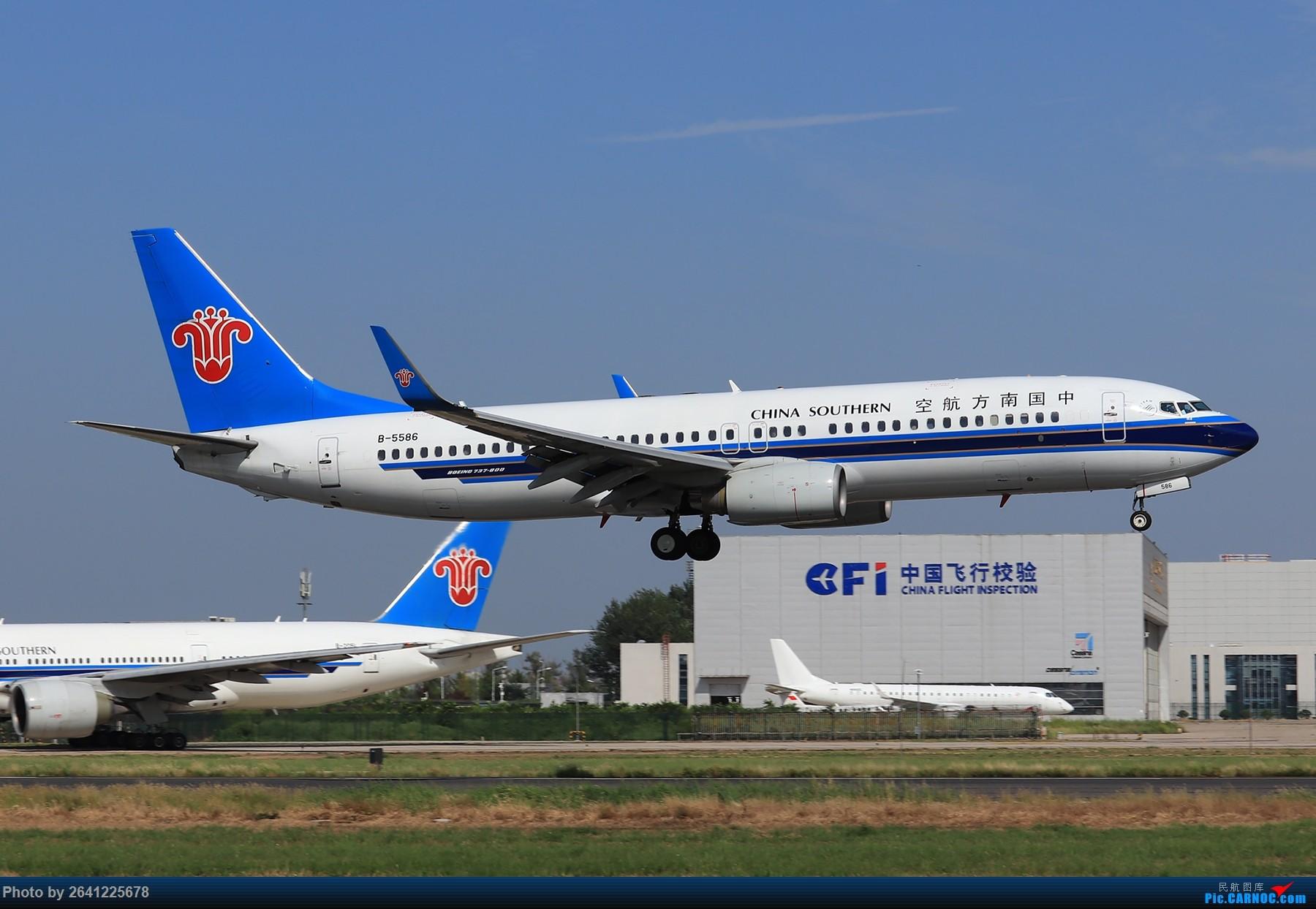 Re:[原创]【PEK】蓝天下的18R(天合联盟篇)法航老涂77W、南航772、东航新737等 BOEING 737-800 B-5586 中国北京首都国际机场