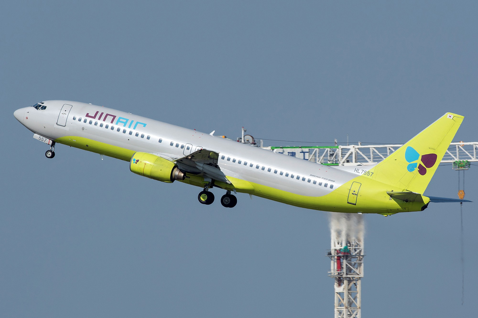 Re:[原创](PVG 1800*)韩国真 BOEING 737-800  中国上海浦东国际机场