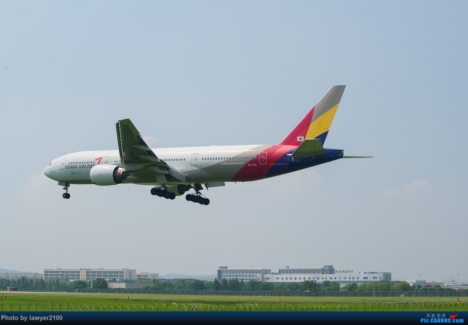 [原创]HGH,一组落地背影 BOEING 777-200 HL-7739 中国杭州萧山国际机场
