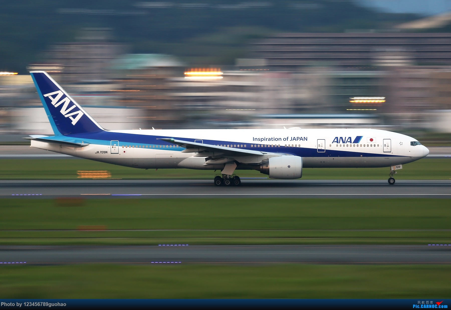 [原创]一图党-ANA BOEING 777-200ER JA709A 日本福冈机场