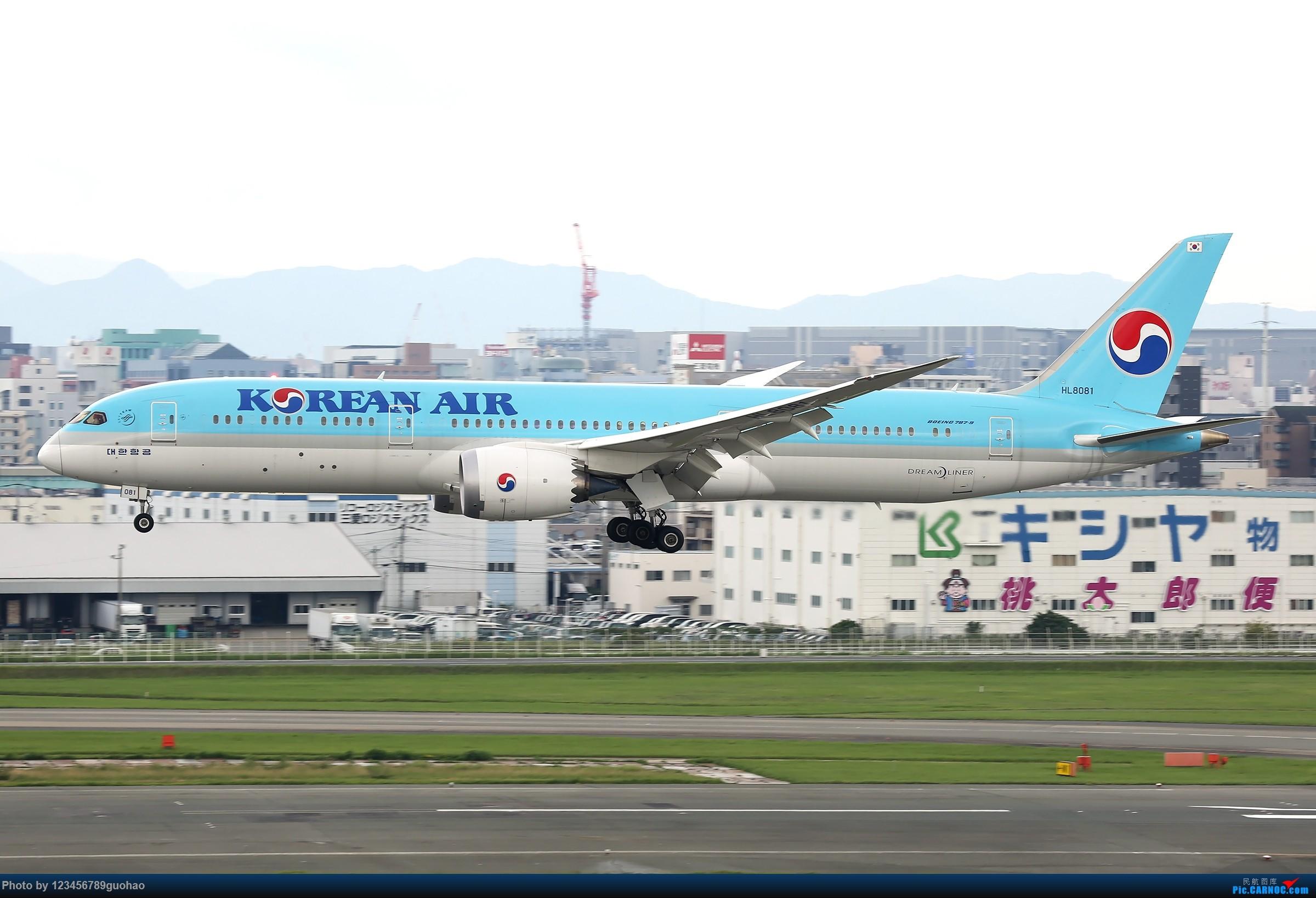 [原创]一图党-棒子789 BOEING 787-9 HL8081 日本福冈机场
