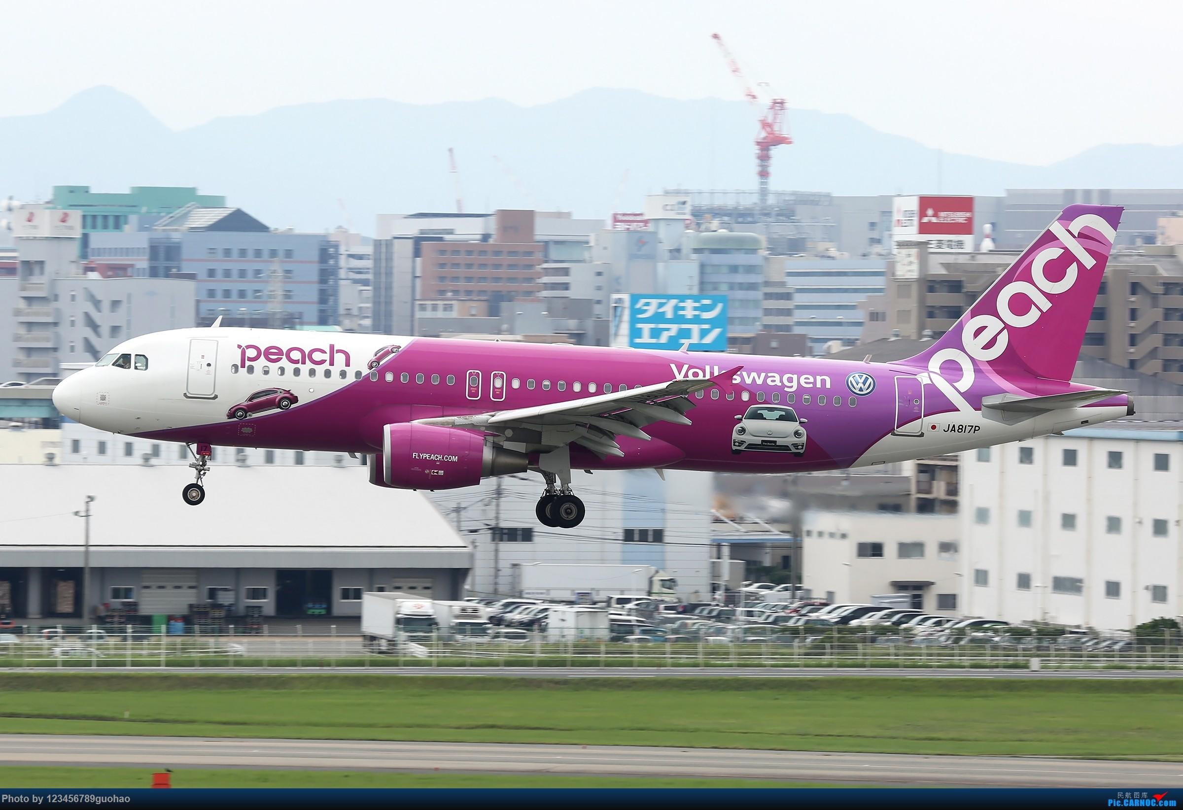 [原创]PEACH AIRBUS A320 JA817P 日本福冈机场
