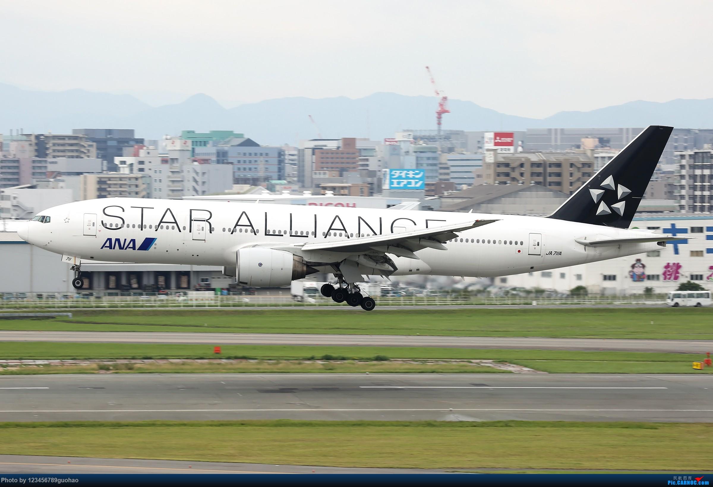 [原创]ANA星星 BOEING 777-200 JA711A 日本福冈机场