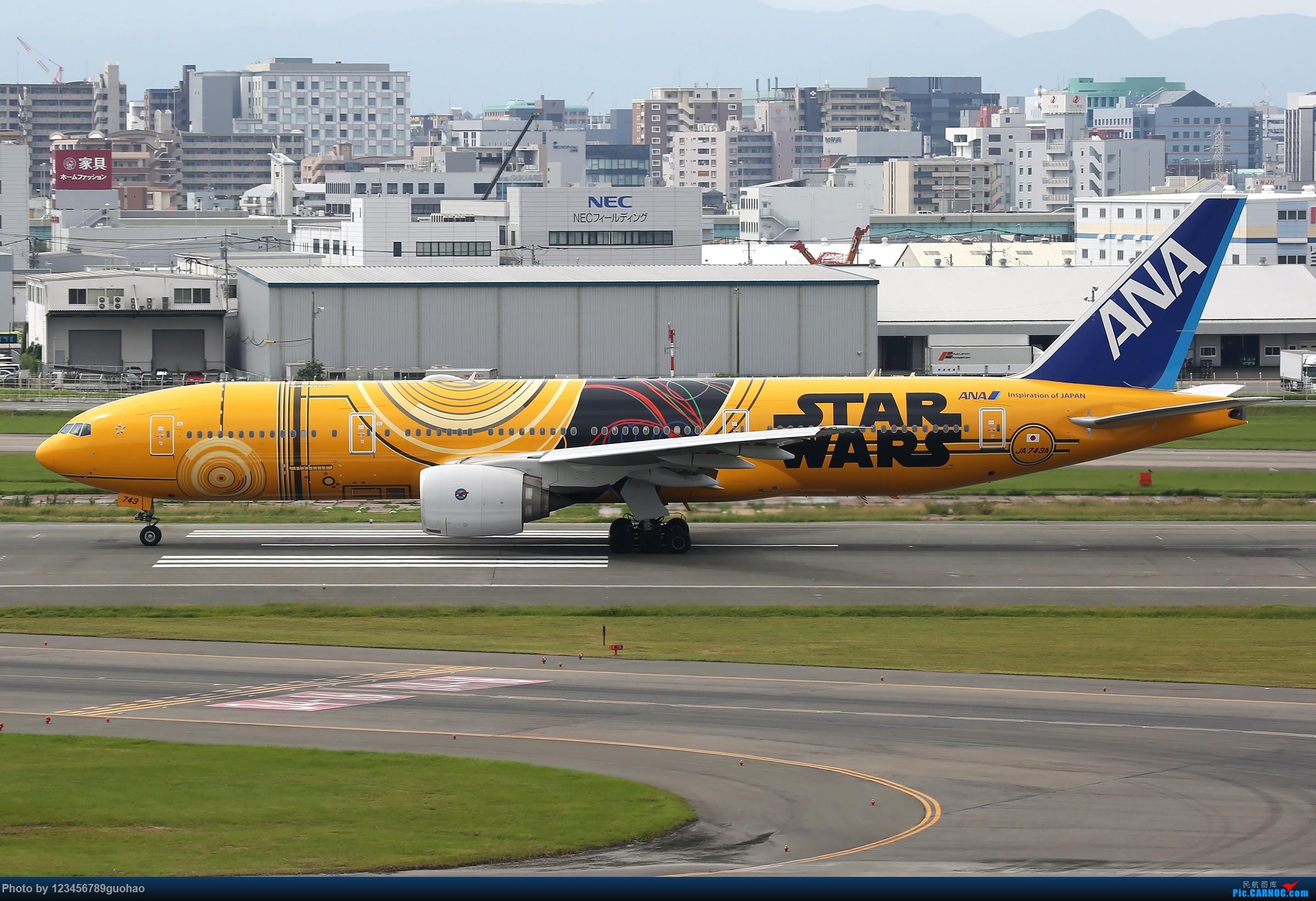 Re:[原创]ANA星战 BOEING 777-200 JA743A 日本福冈机场