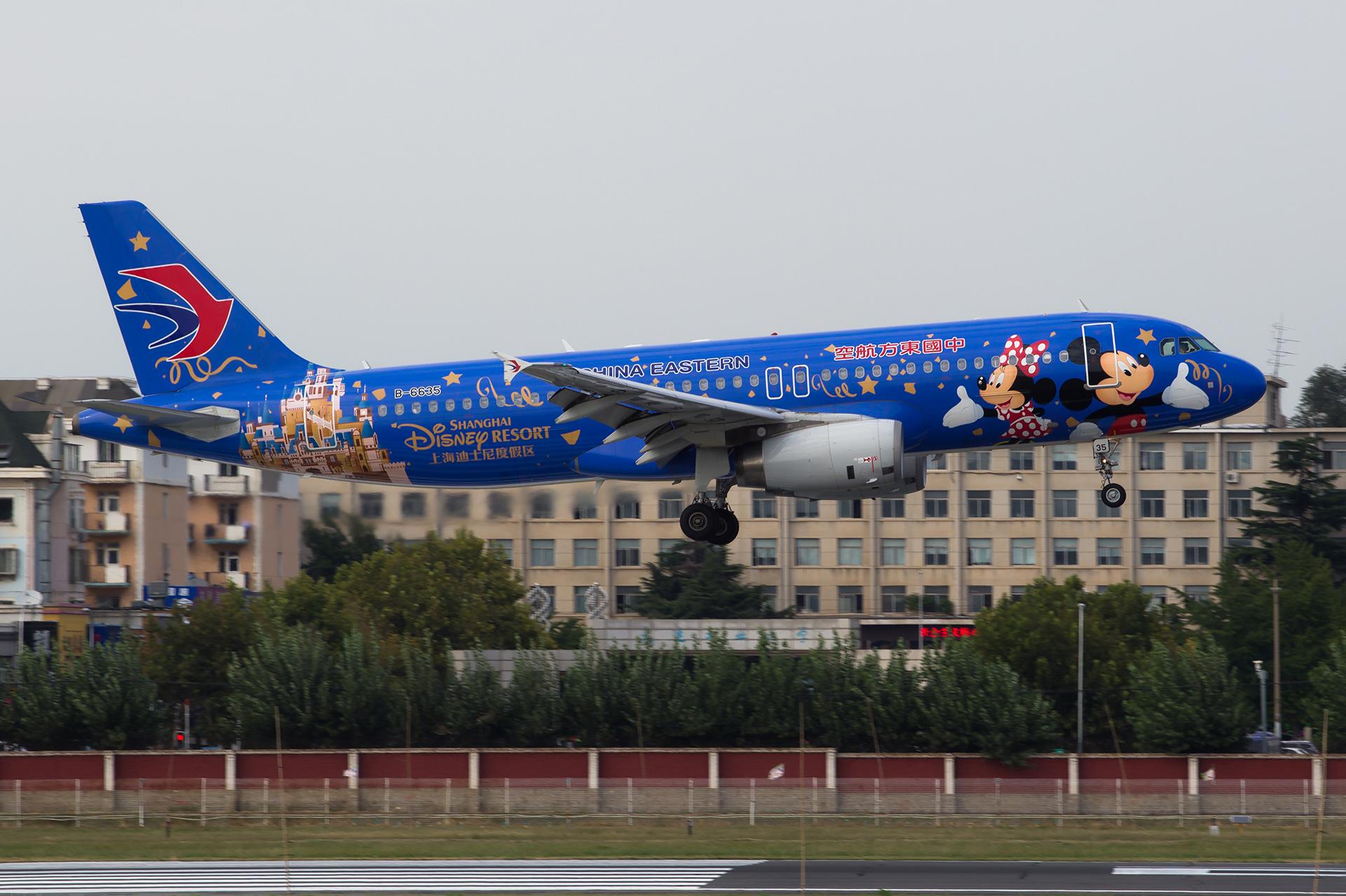 [原创][DLC]。。。东航迪士尼A320 。。。 AIRBUS A320-200 B-6635 中国大连国际机场