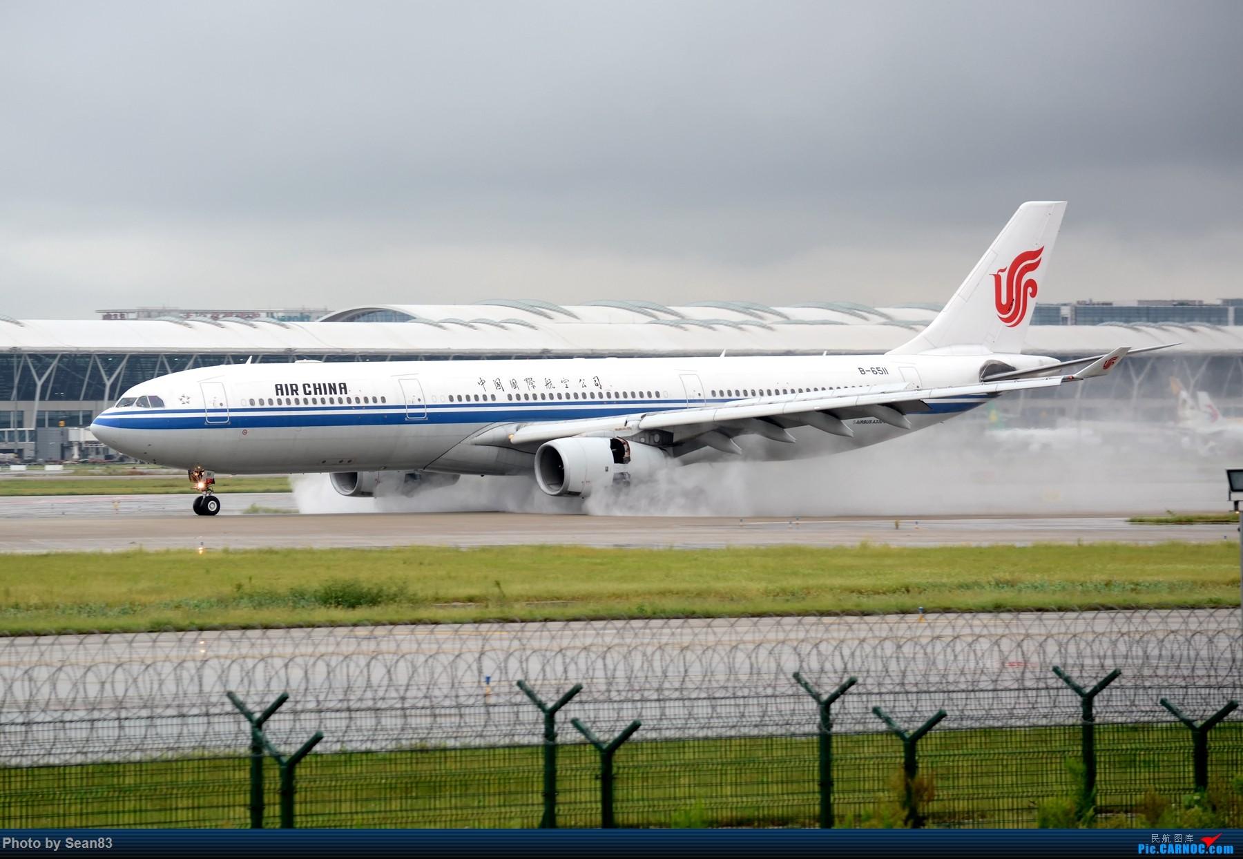 [原创](PVG 1800*)雨 AIRBUS A330-300 B-6511 上海浦东国际机场