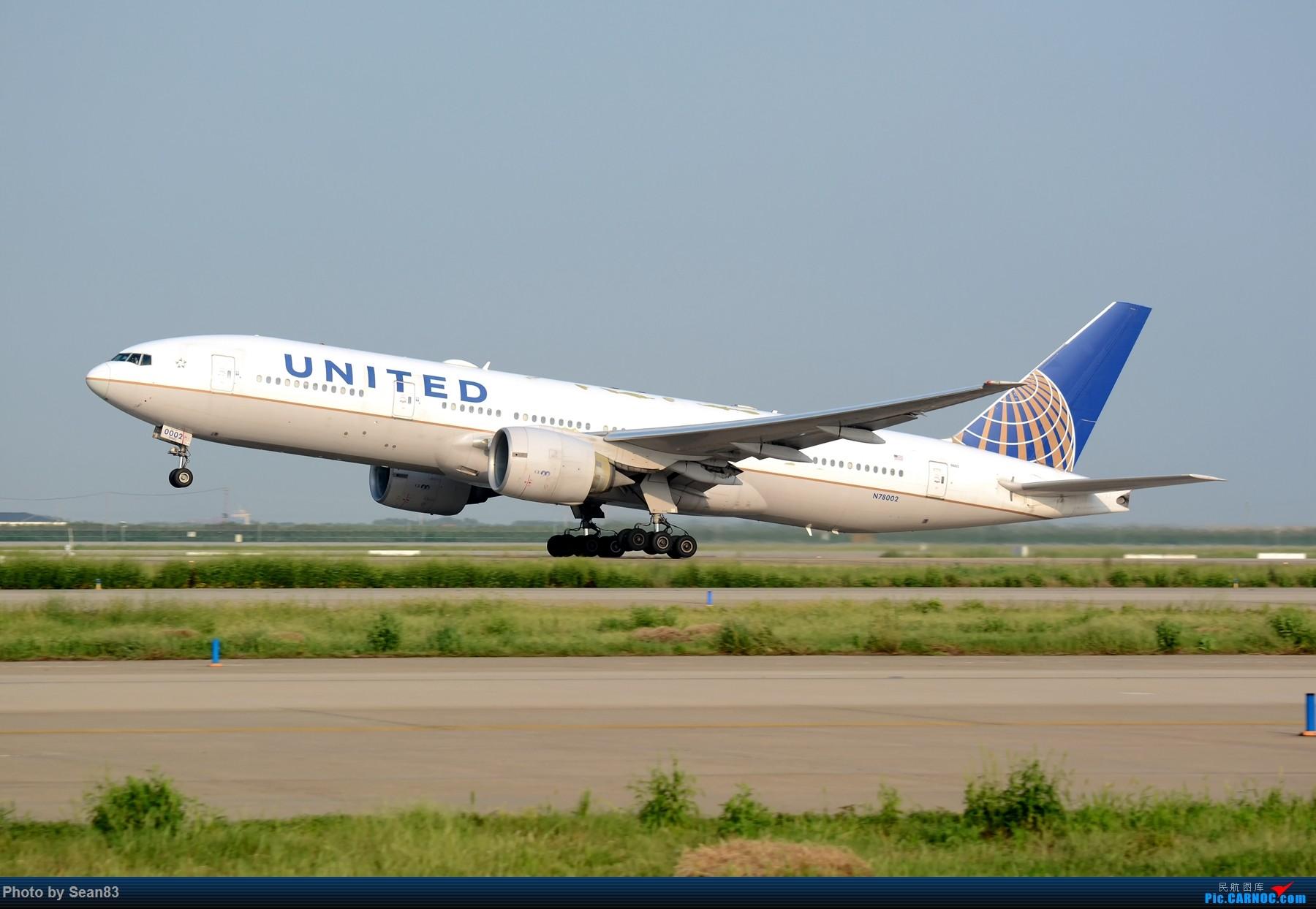 [原创](PVG 1800*) 美联航777-200er 拉起 BOEING 777-200ER N78002 上海浦东国际机场