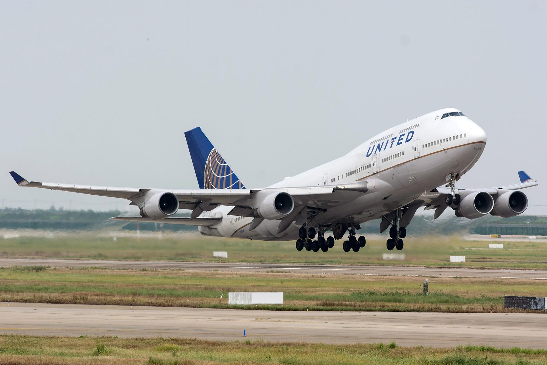 [原创][PVG] 纪念明天要停飞的美联航747 BOEING 747-400 N178UA 中国上海浦东国际机场