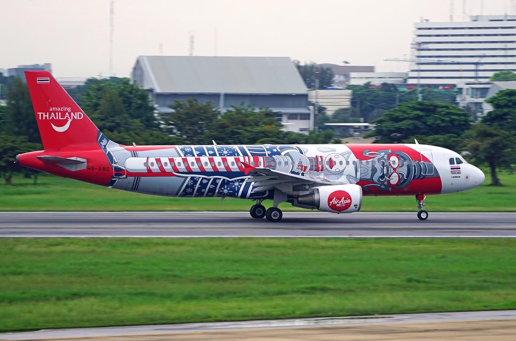 Re:[原创]泰国亚洲航空彩绘 门神+缤纷泰国 AIRBUS A320-200 HS-ABC 泰国曼谷廊曼国际机场
