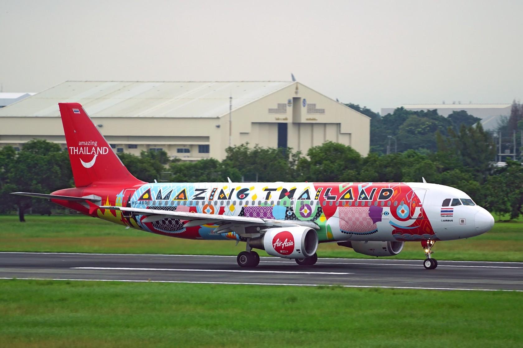Re:泰国亚洲航空彩绘 门神+缤纷泰国 AIRBUS A320-200 HS-ABD 泰国曼谷廊曼国际机场